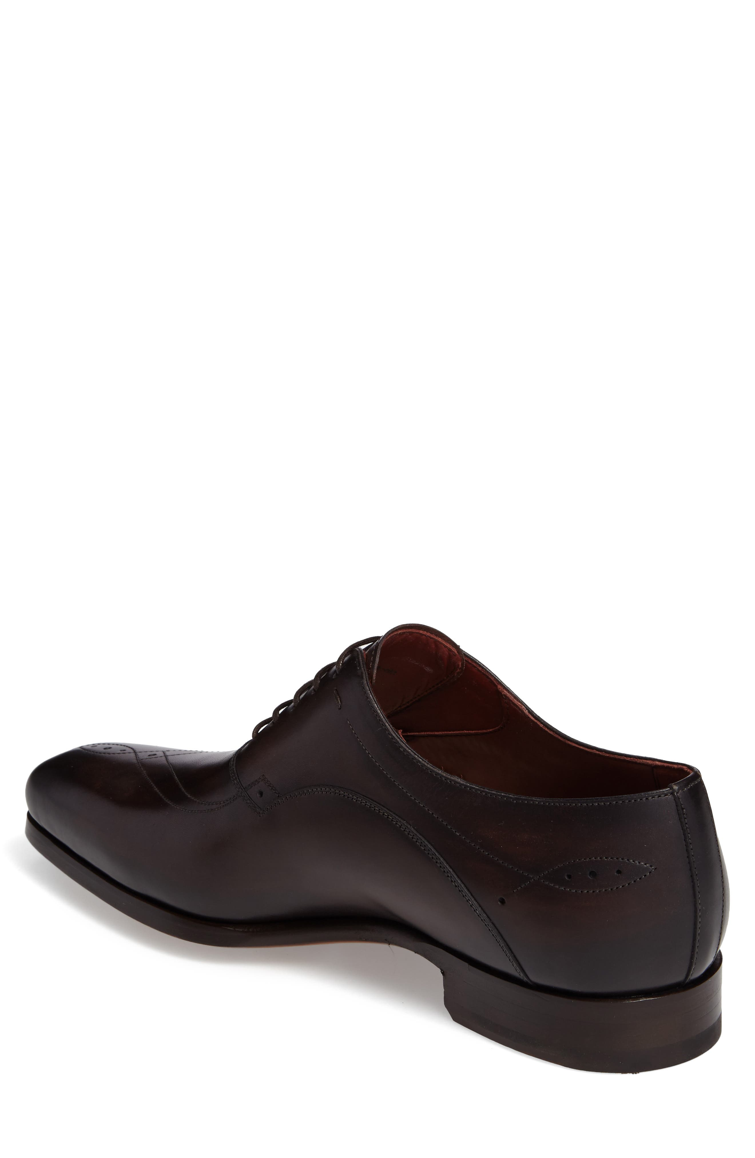 Francisco Plain Toe Oxford,                             Alternate thumbnail 2, color,                             Brown Leather