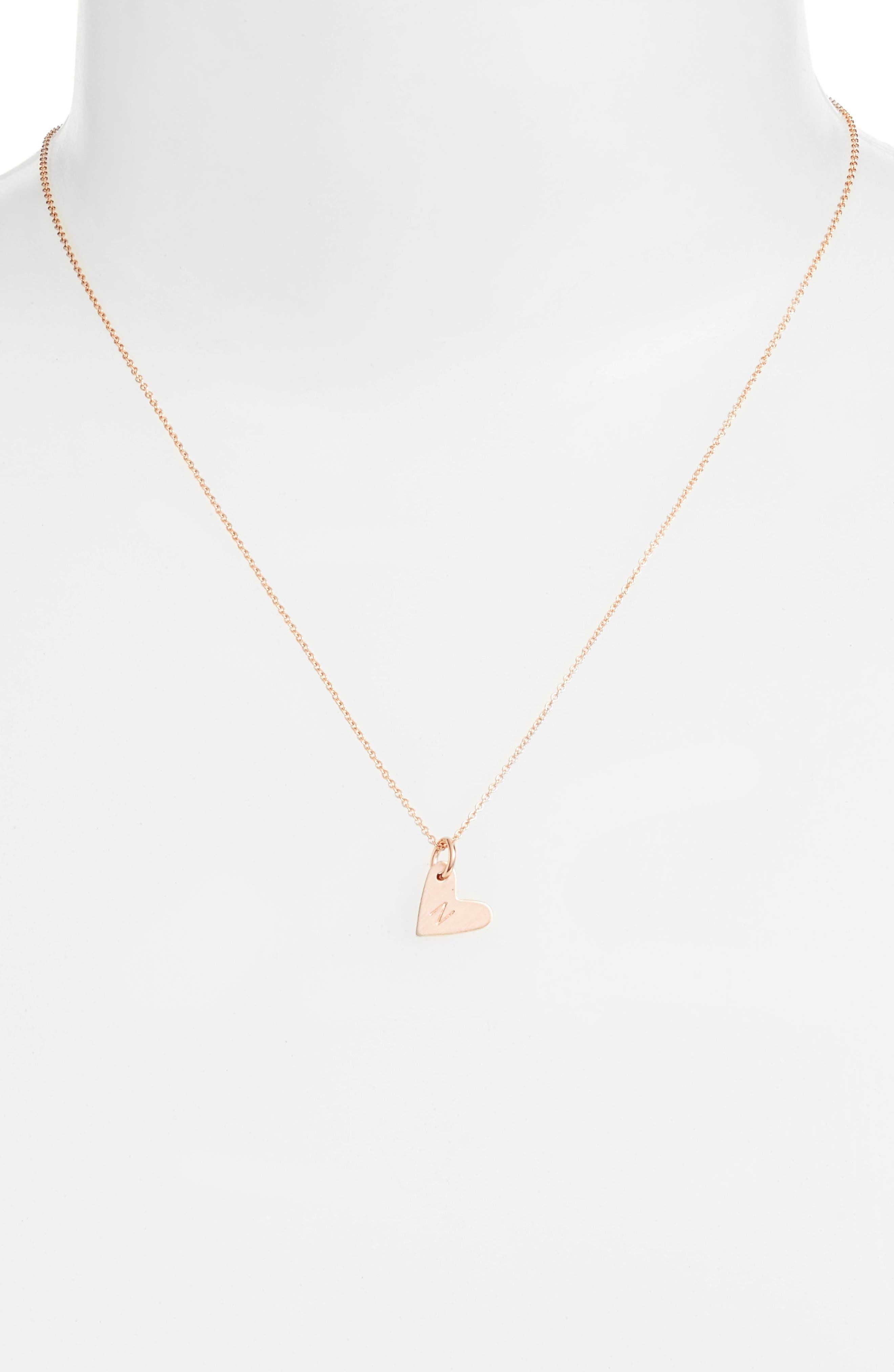 Alternate Image 2  - Nashelle Initial Heart Pendant Necklace