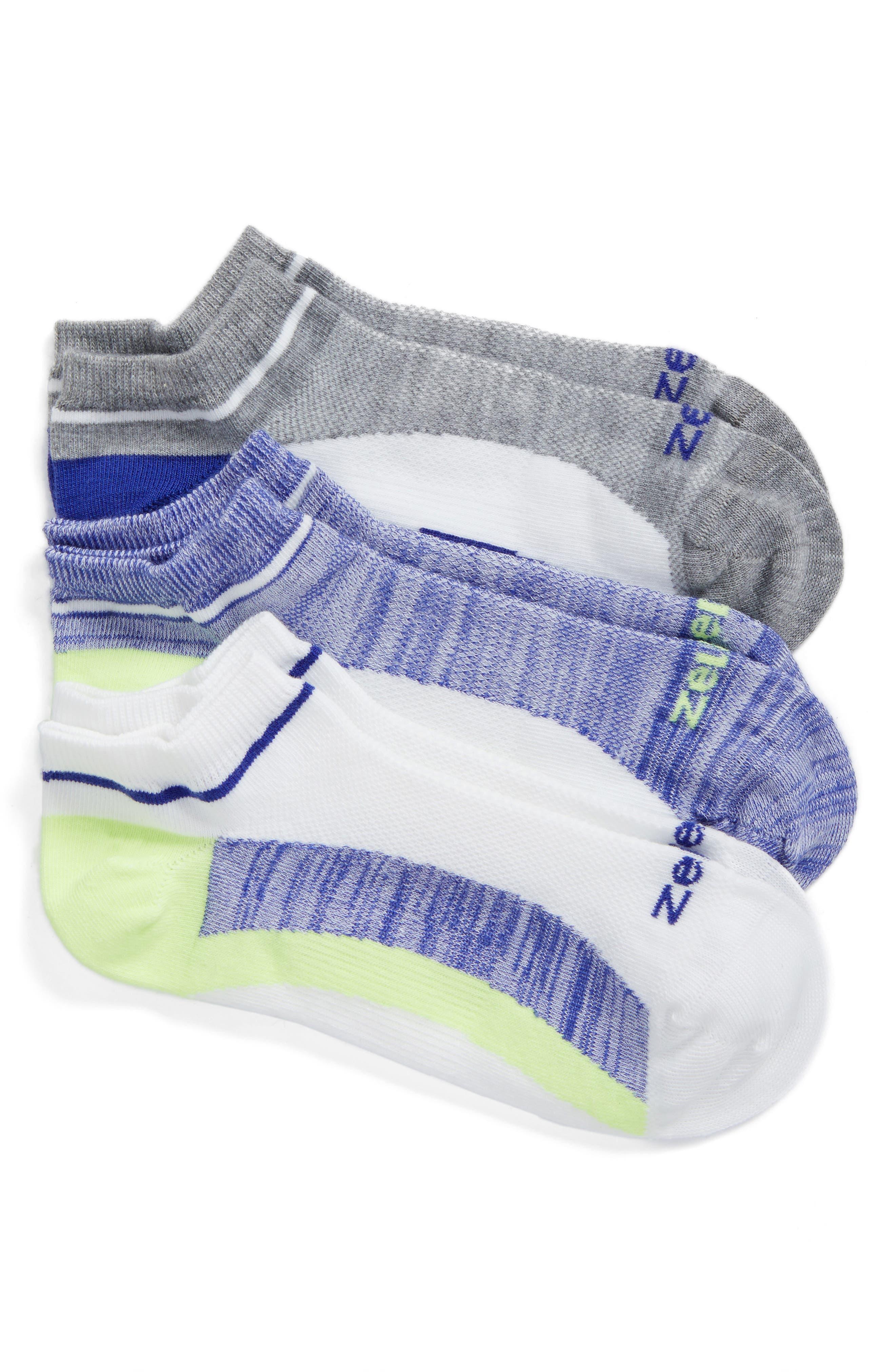 Zella 'Fitness' Liner Socks (3-Pack)