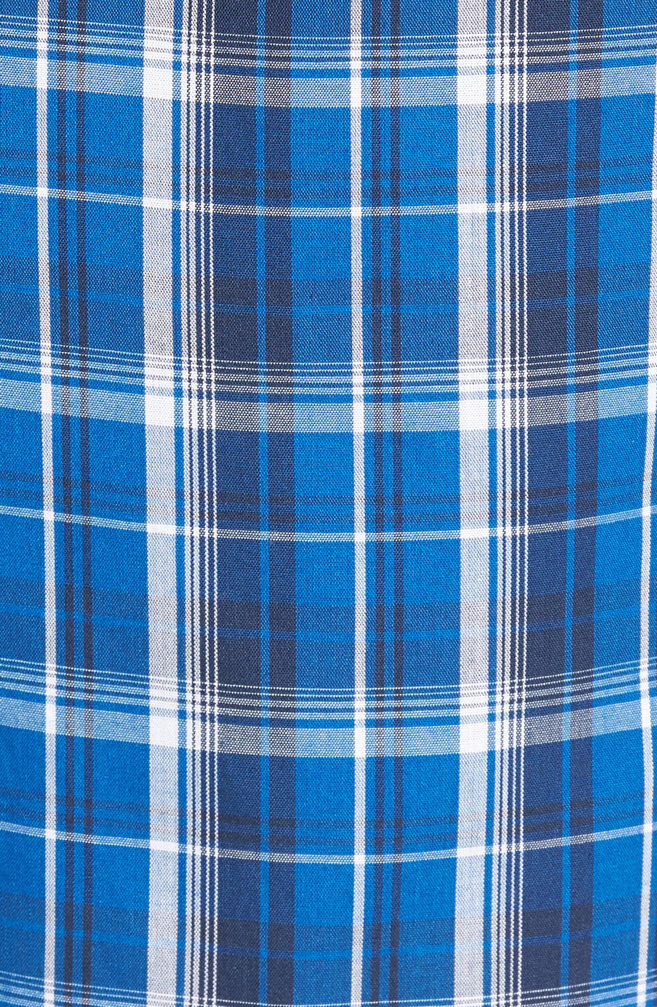 Poplin Lounge Shorts,                             Alternate thumbnail 5, color,                             Blue Marmara Plaid