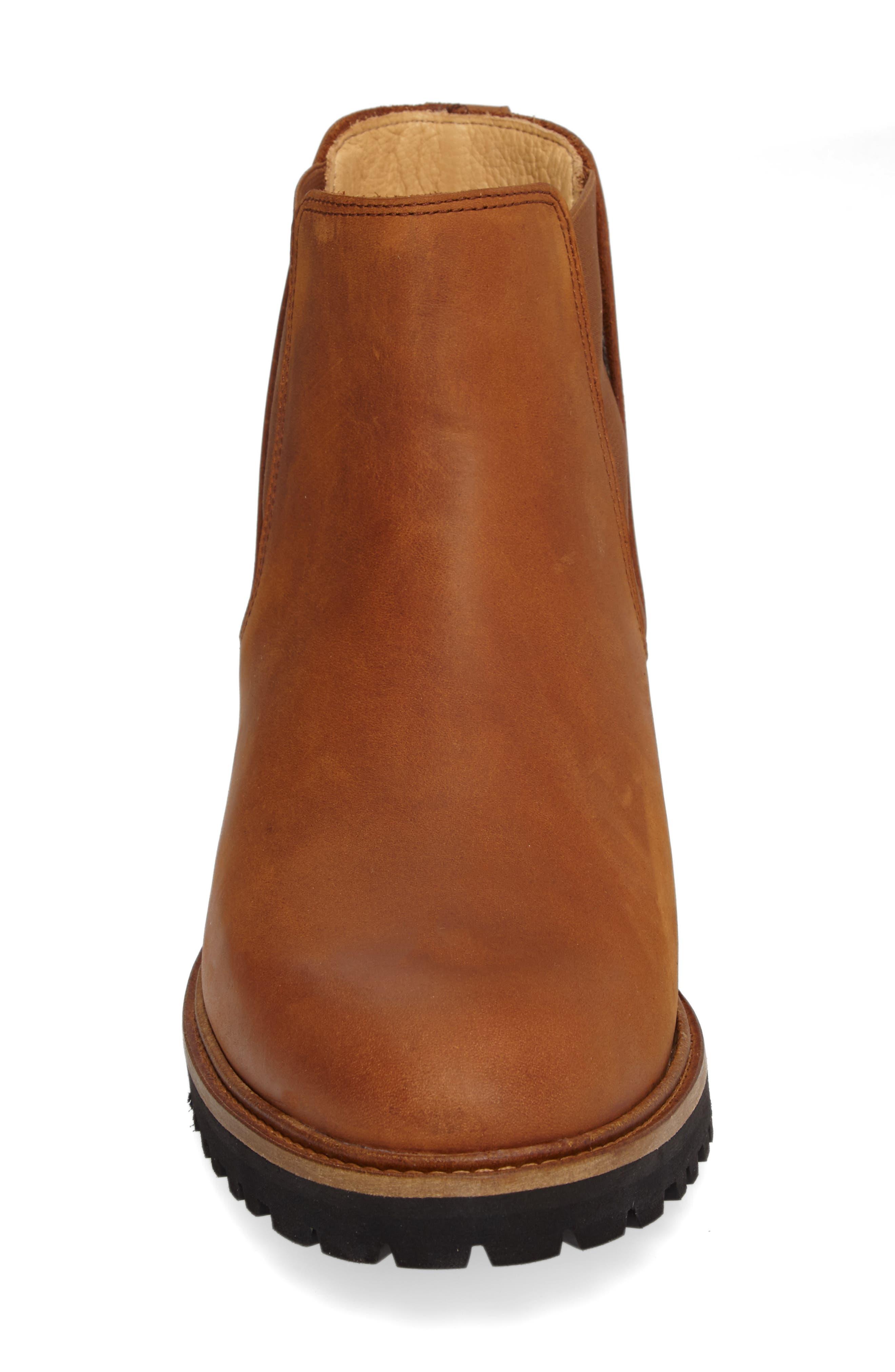 Crosstown Cowboy Chelsea Boot,                             Alternate thumbnail 5, color,                             Tan Waxhide/ Black
