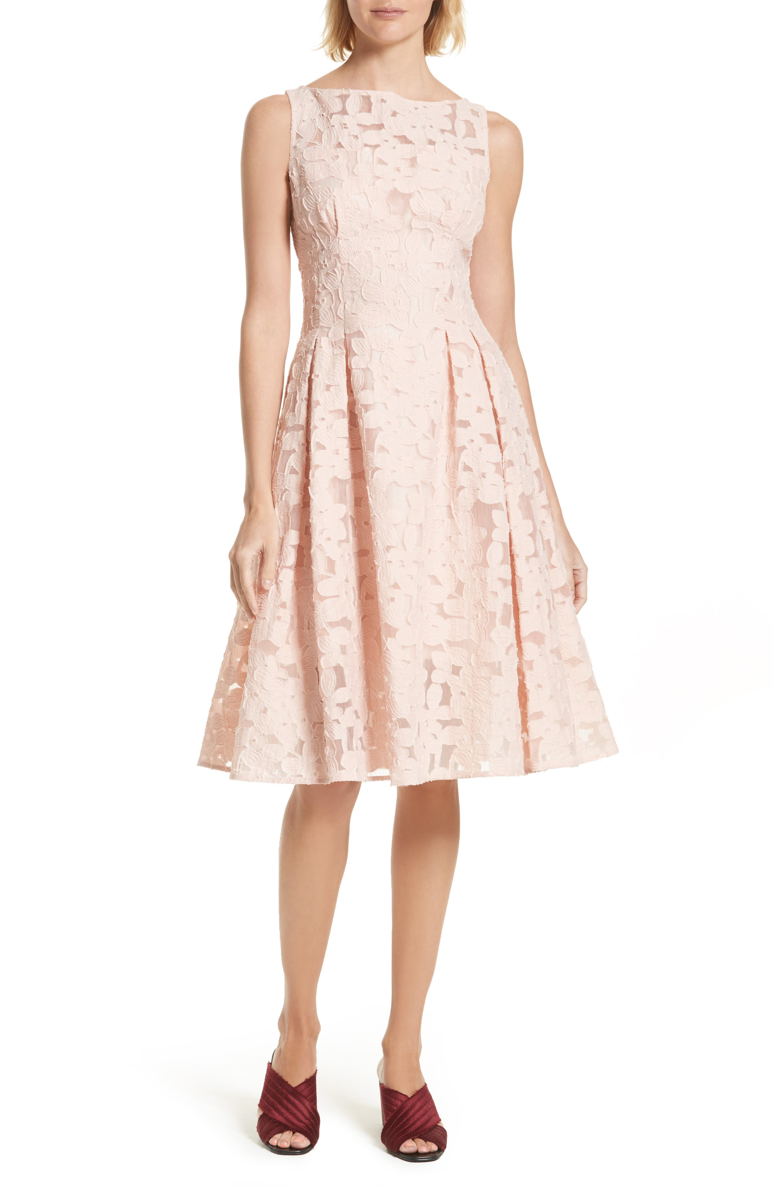 kate spade new york floral fil coupe fit & flare dress