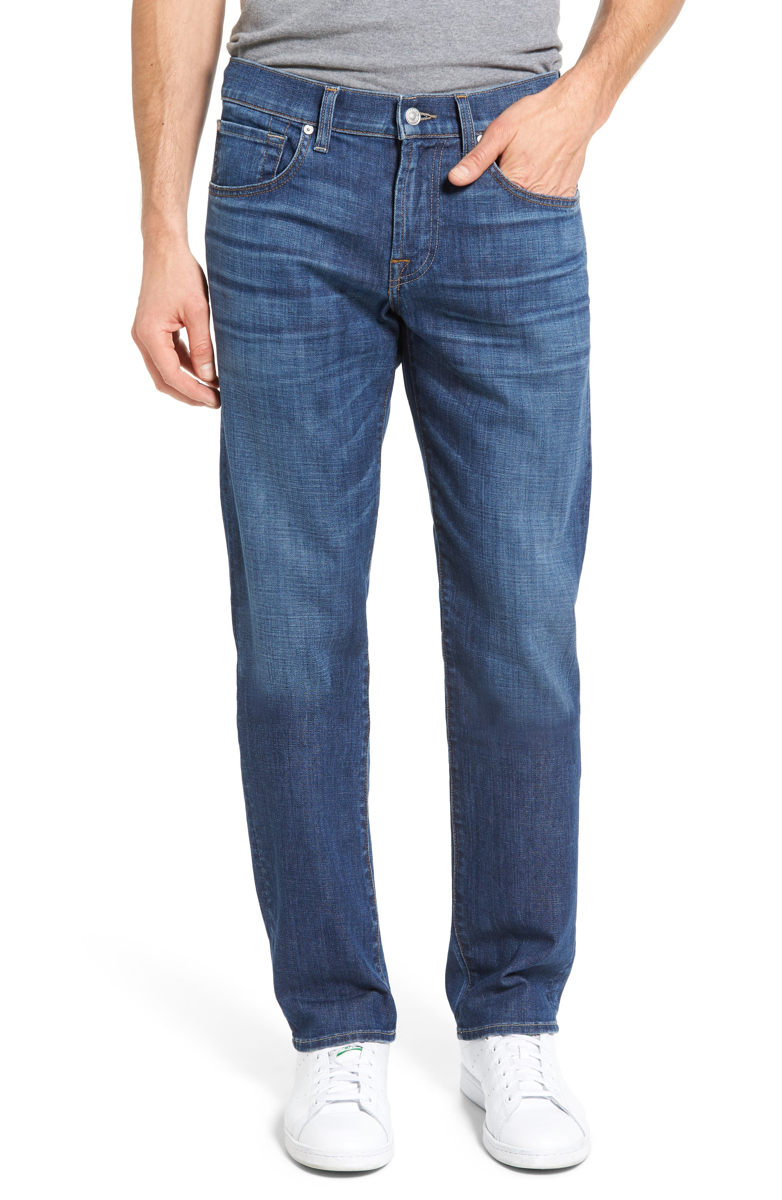 7 For All Mankind® The Straight Slim Straight Leg Jeans (Mariner)