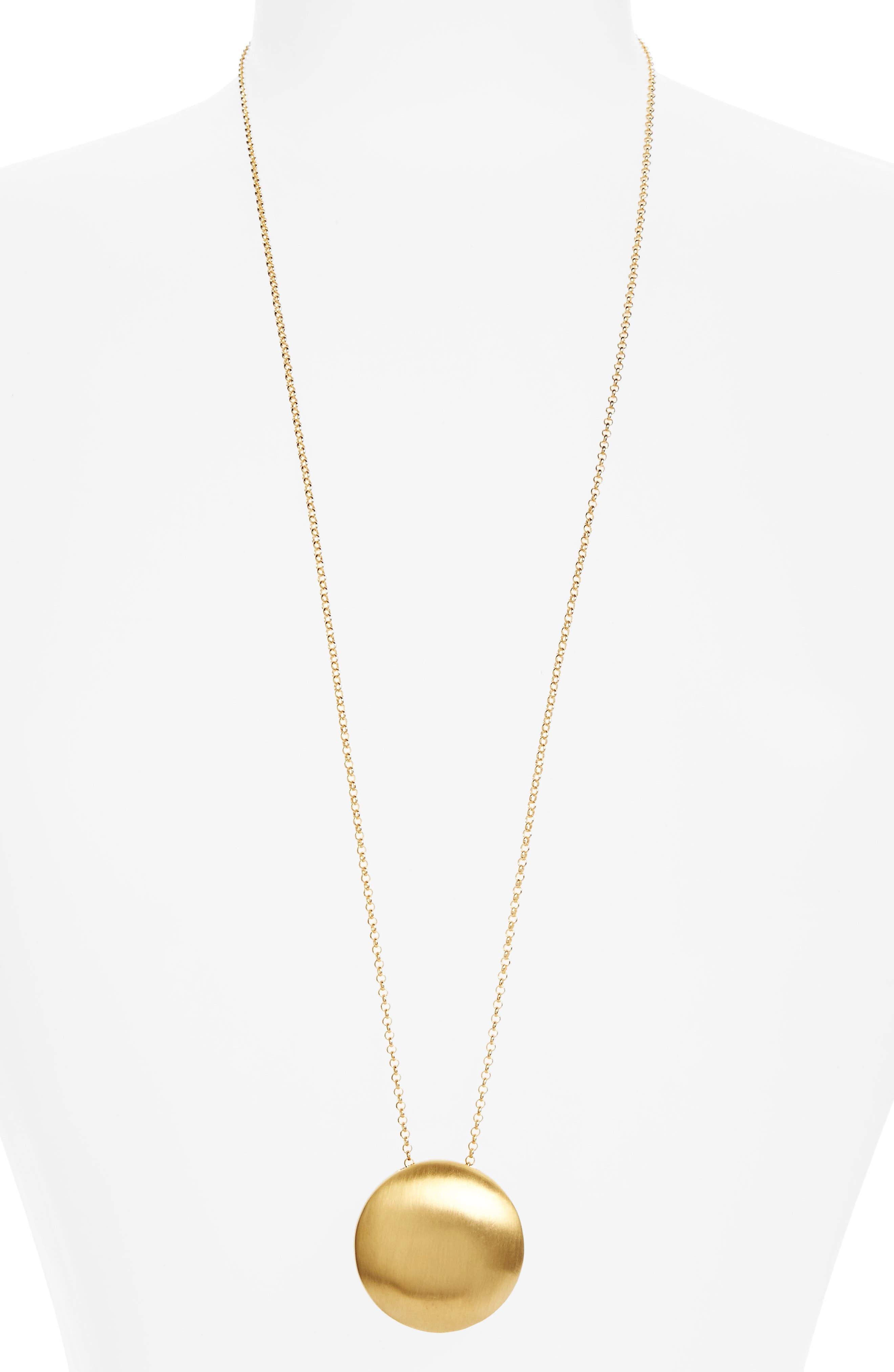 Sphere Pendant Necklace,                             Main thumbnail 1, color,                             Gold