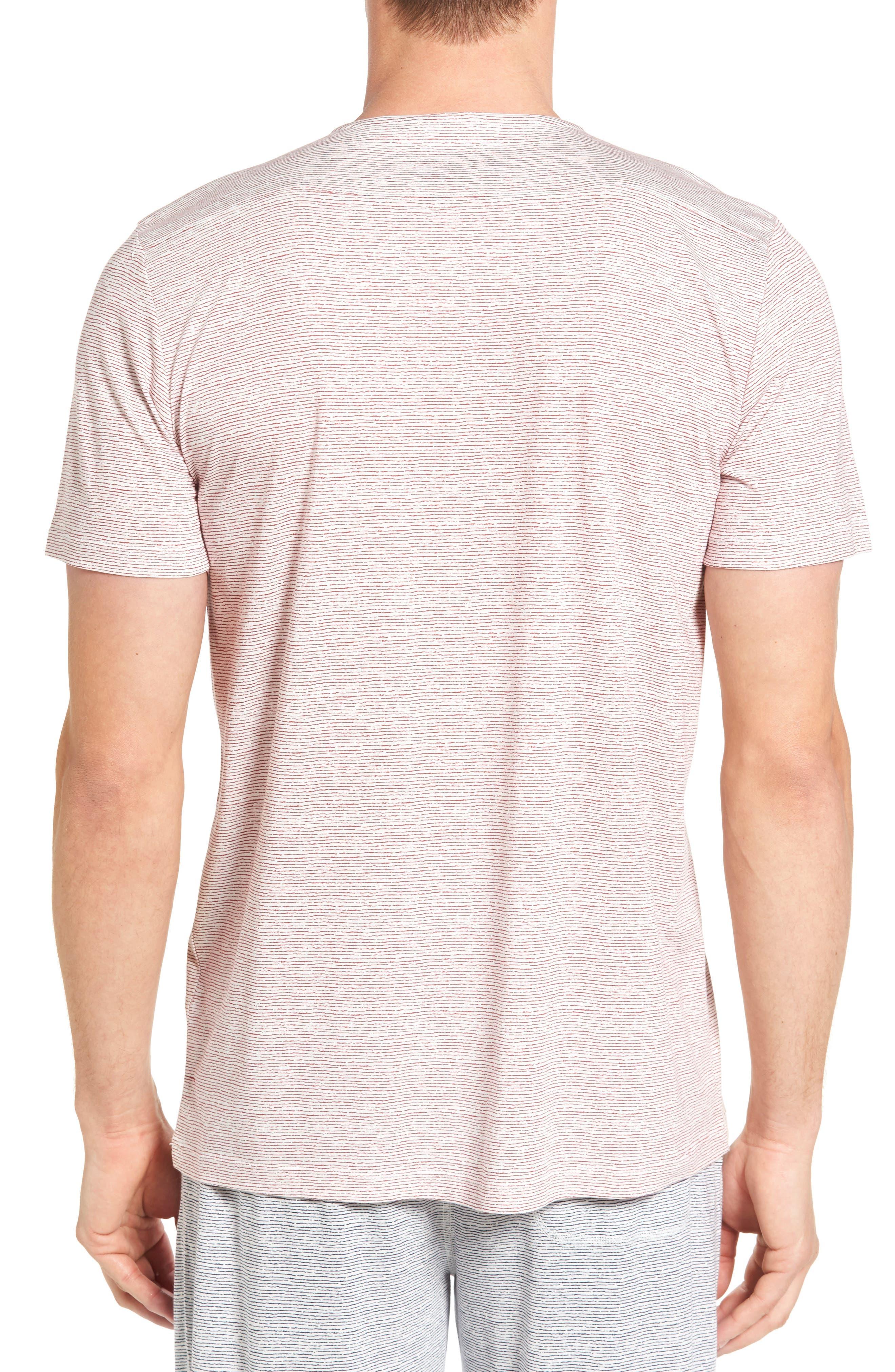 Alternate Image 2  - Daniel Buchler Feeder Stripe Pima Cotton & Modal V-Neck T-Shirt