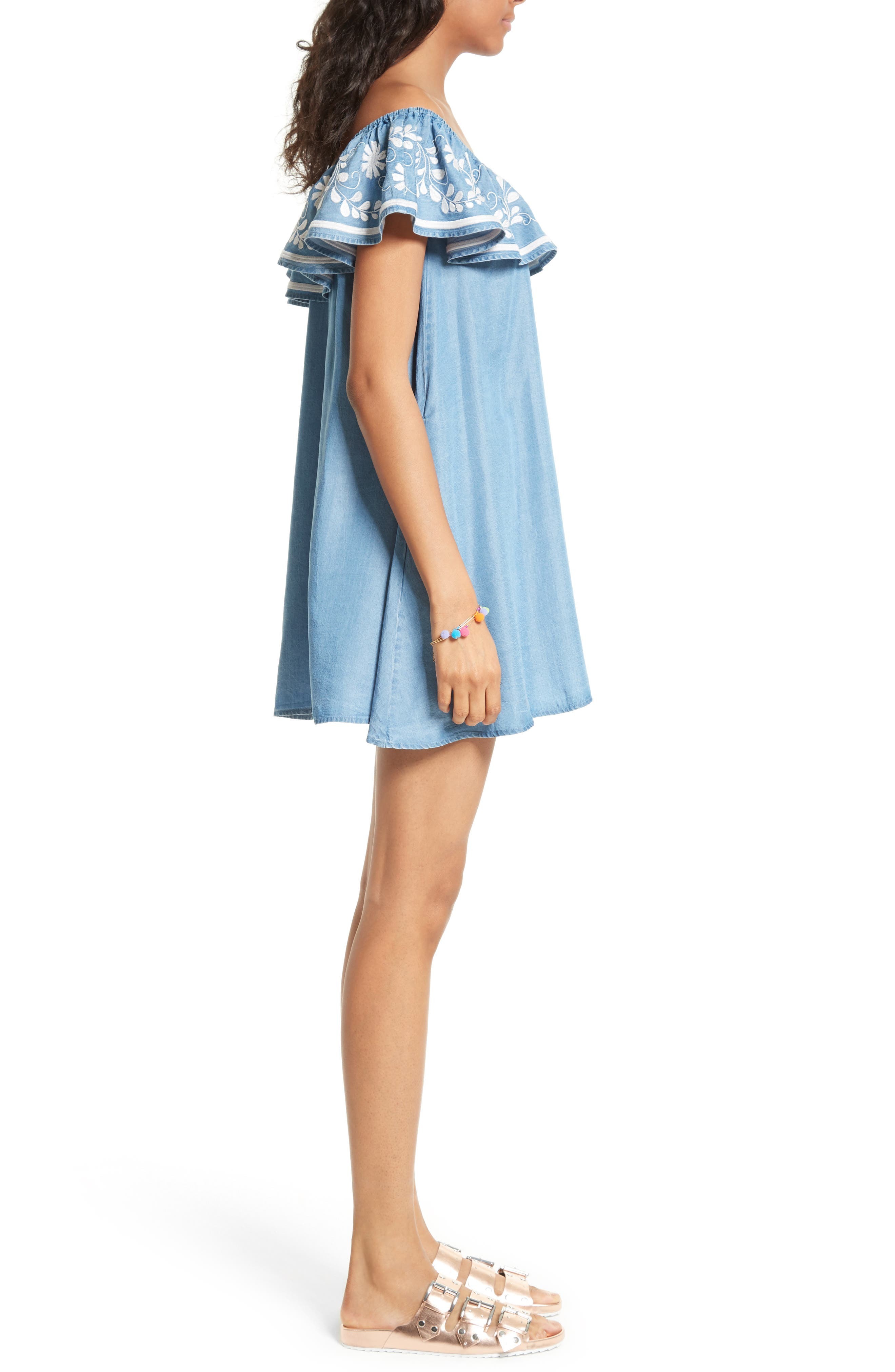Alternate Image 3  - Rebecca Minkoff Dev Off the Shoulder Minidress