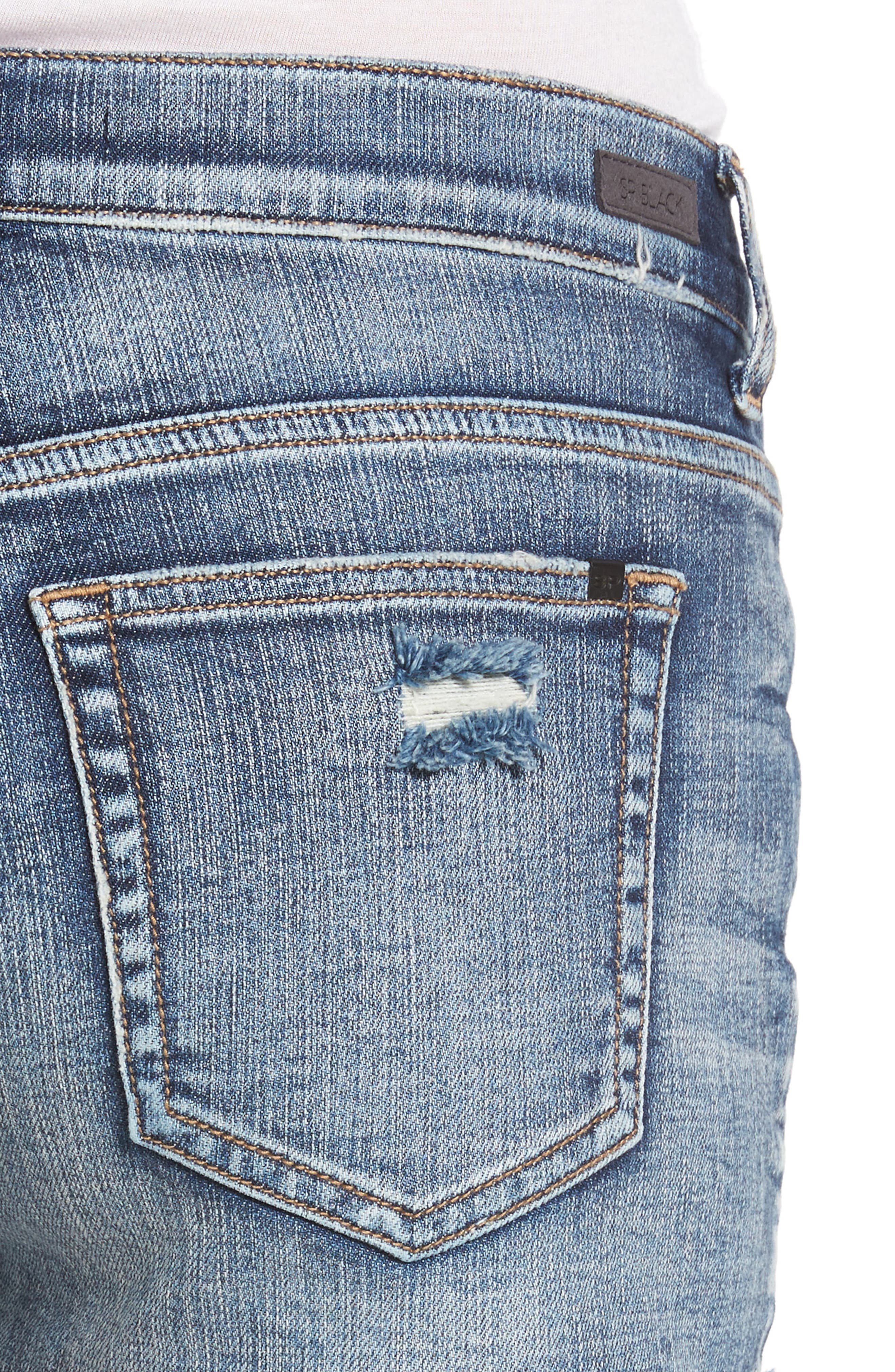 Stars & Sripes Denim Shorts,                             Alternate thumbnail 4, color,                             Medium Wash