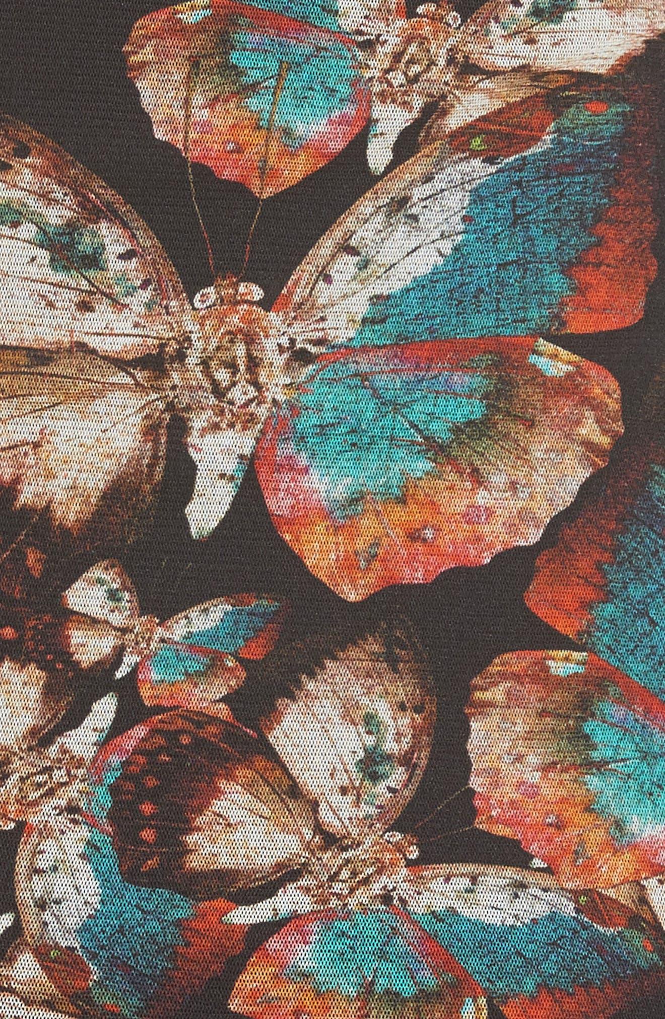Tulle Sheath Dress,                             Alternate thumbnail 3, color,                             Nero