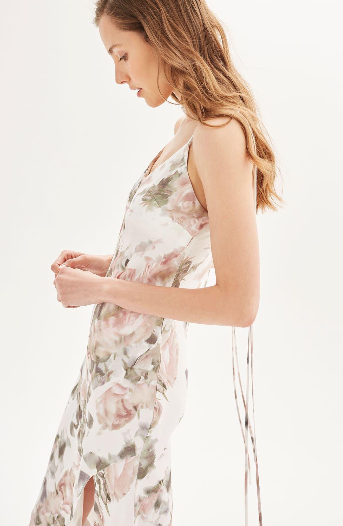 Alternate Image 2  - Topshop Bride Asymmetrical Slipdress
