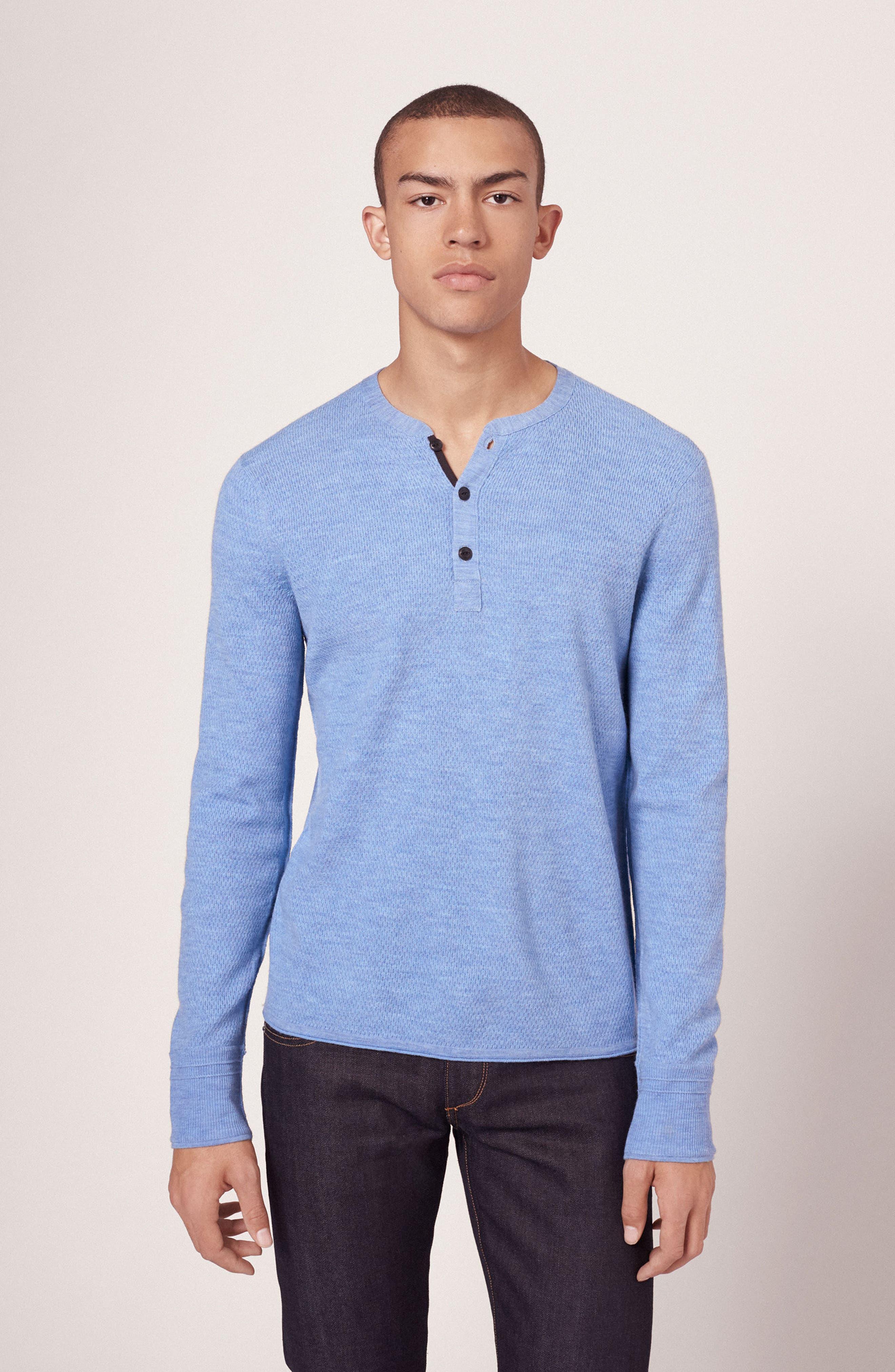 Alternate Image 6  - rag & bone Gregory Wool Blend Henley Sweater