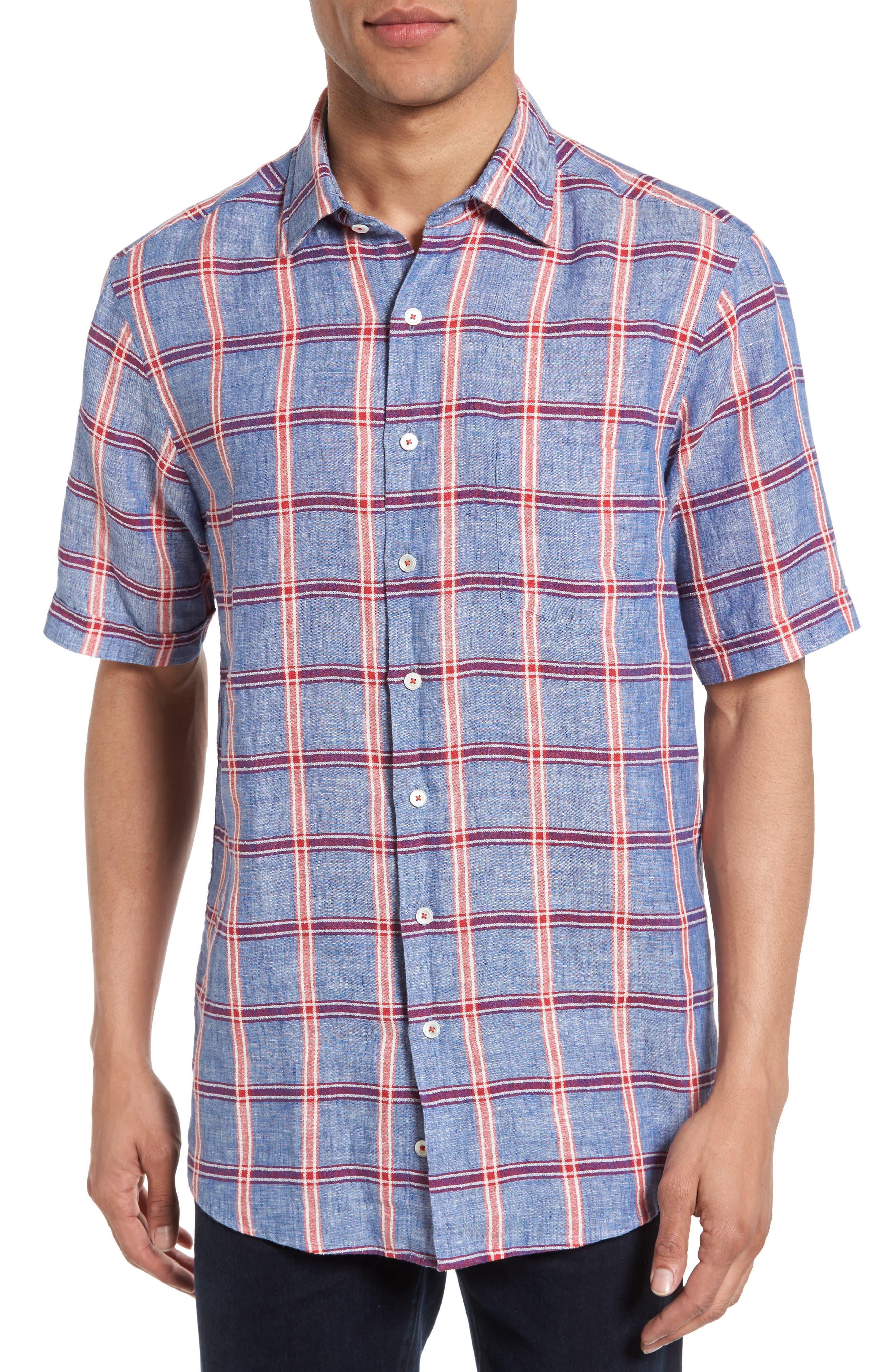 Rodd & Gunn Gimmerburn Check Linen Blend Sport Shirt