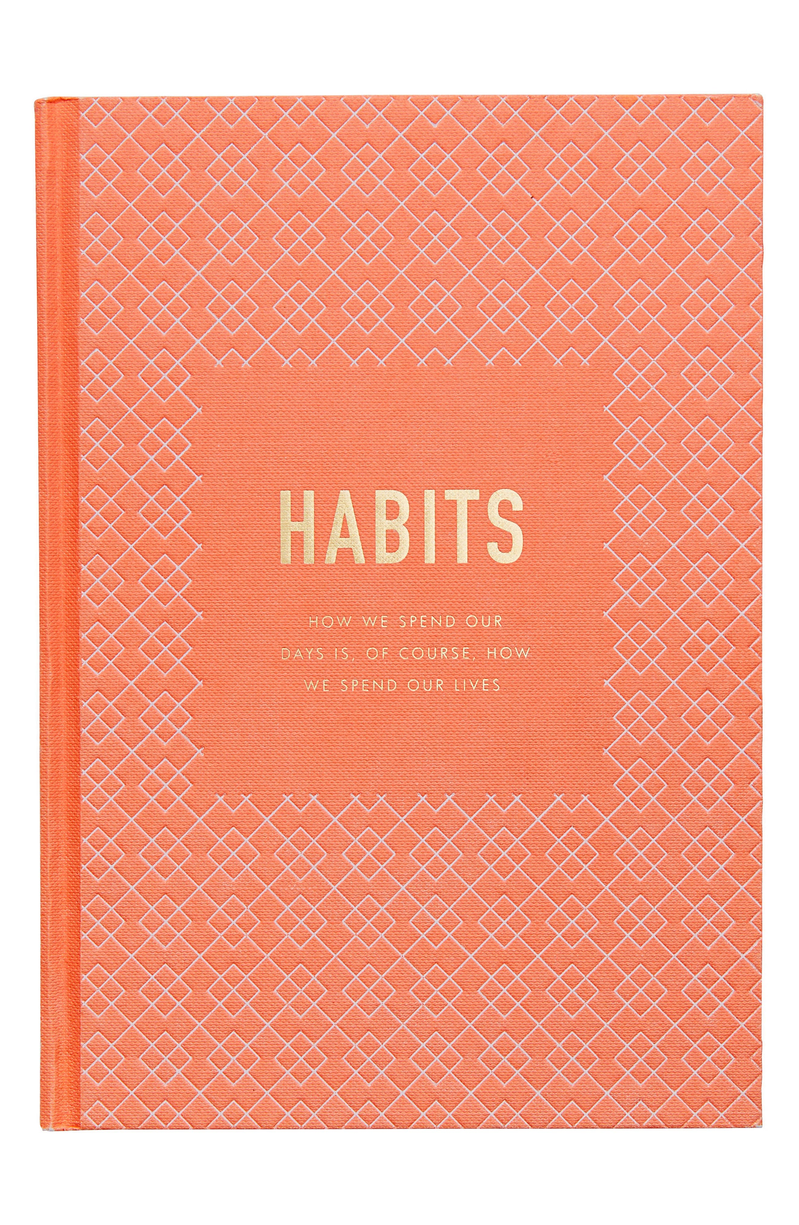 Habits: Inspiration Hardcover Journal,                         Main,                         color, Orange