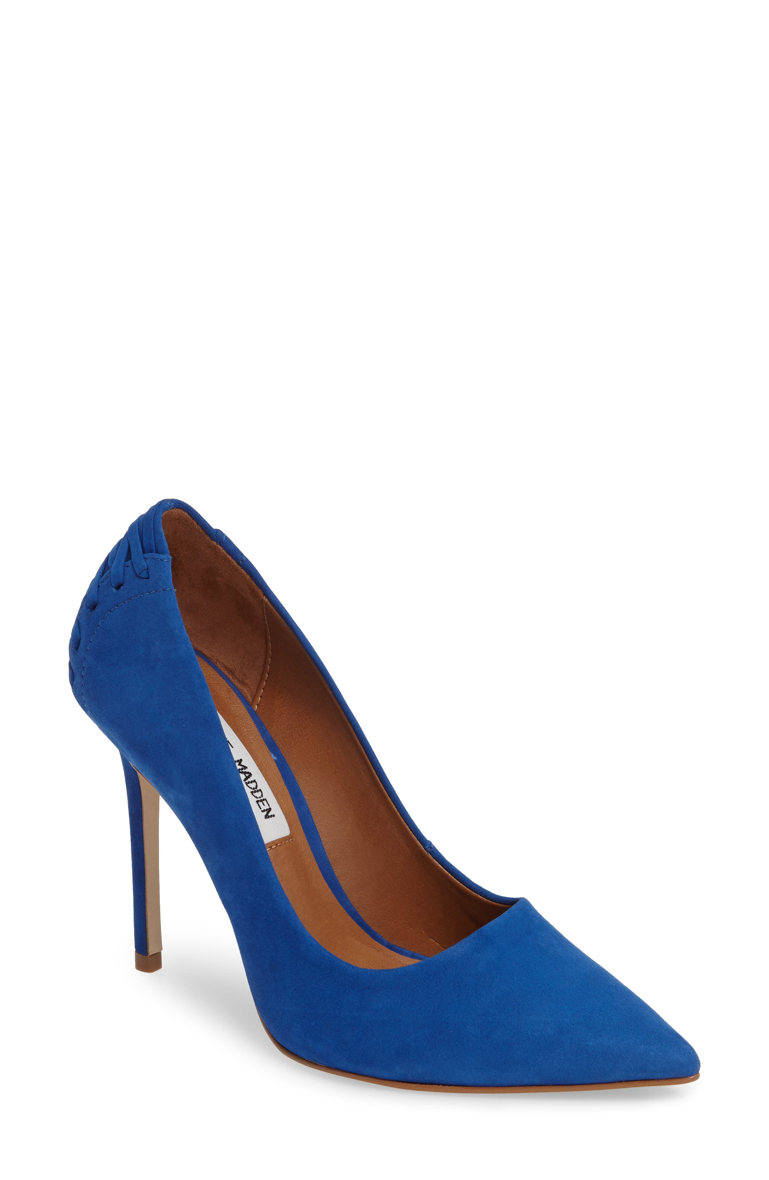 Paiton Laced Heel Pump,                         Main,                         color, Blue Nubuck
