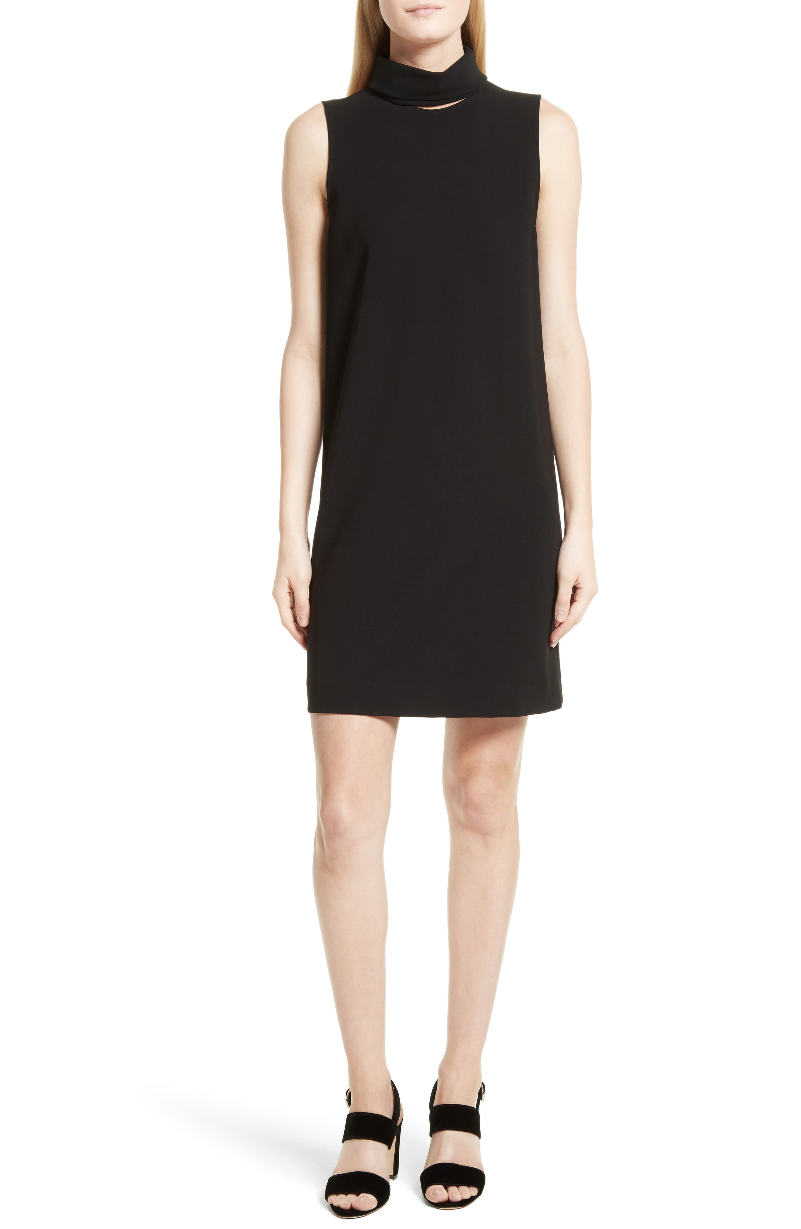 Theory Admiral Crepe Slit Collar Sheath Dress