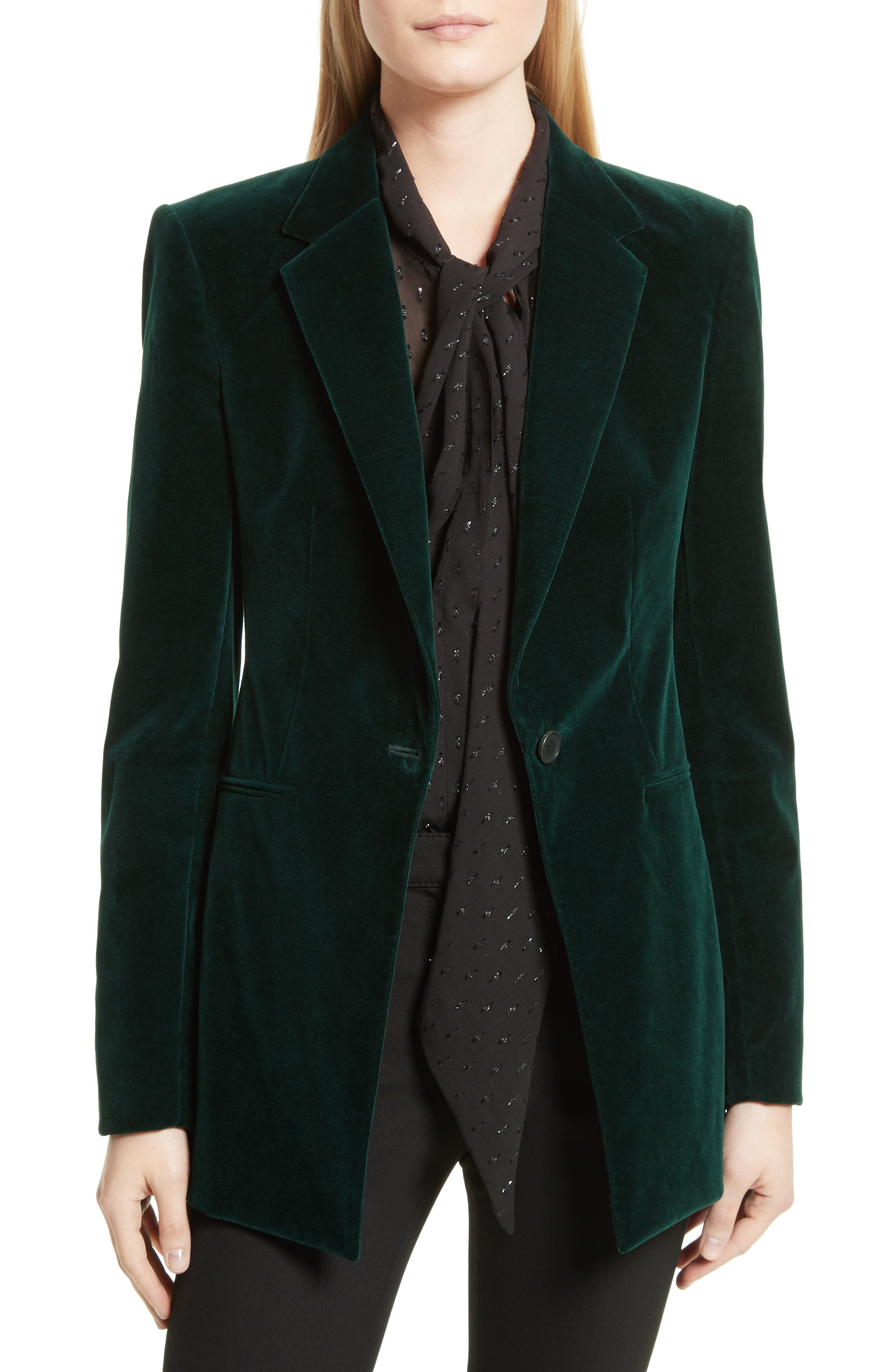 Theory Stretch Velvet Power Jacket