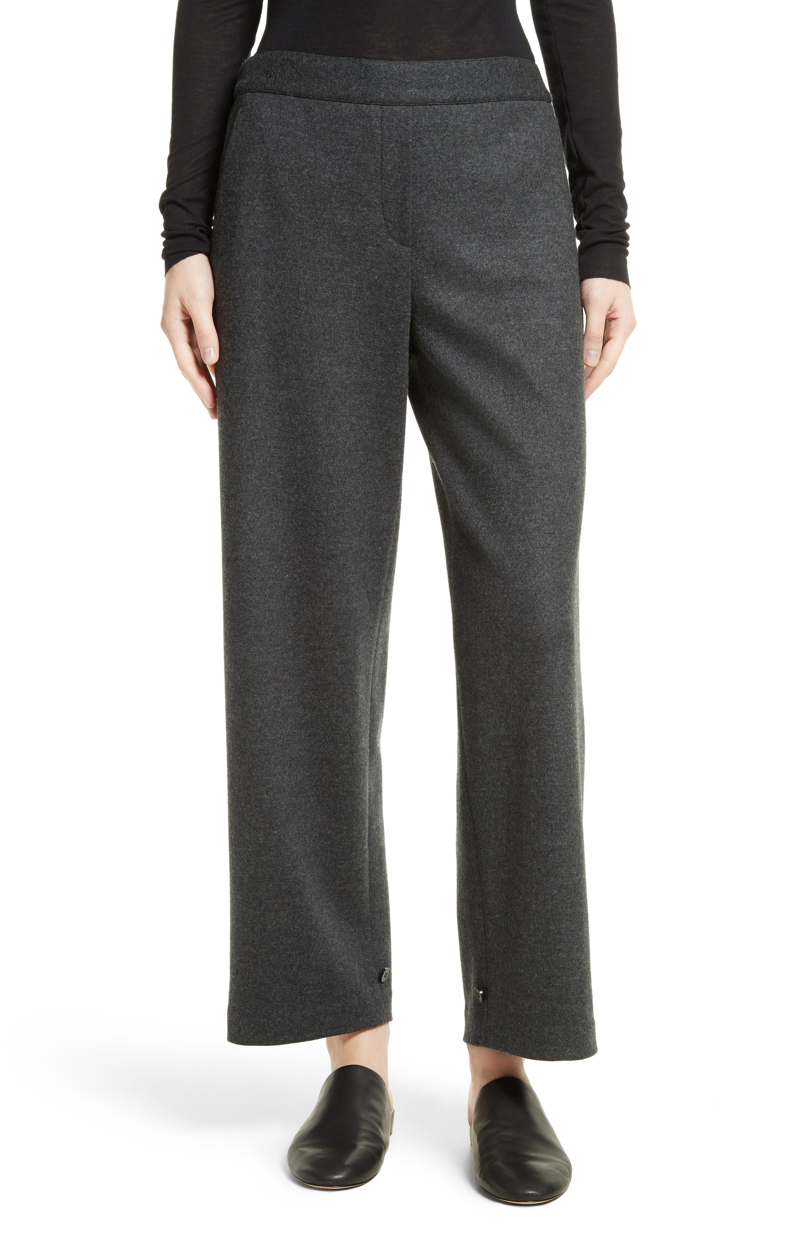 Genie Flannel Knit Pants,                         Main,                         color, Dark Charcoal