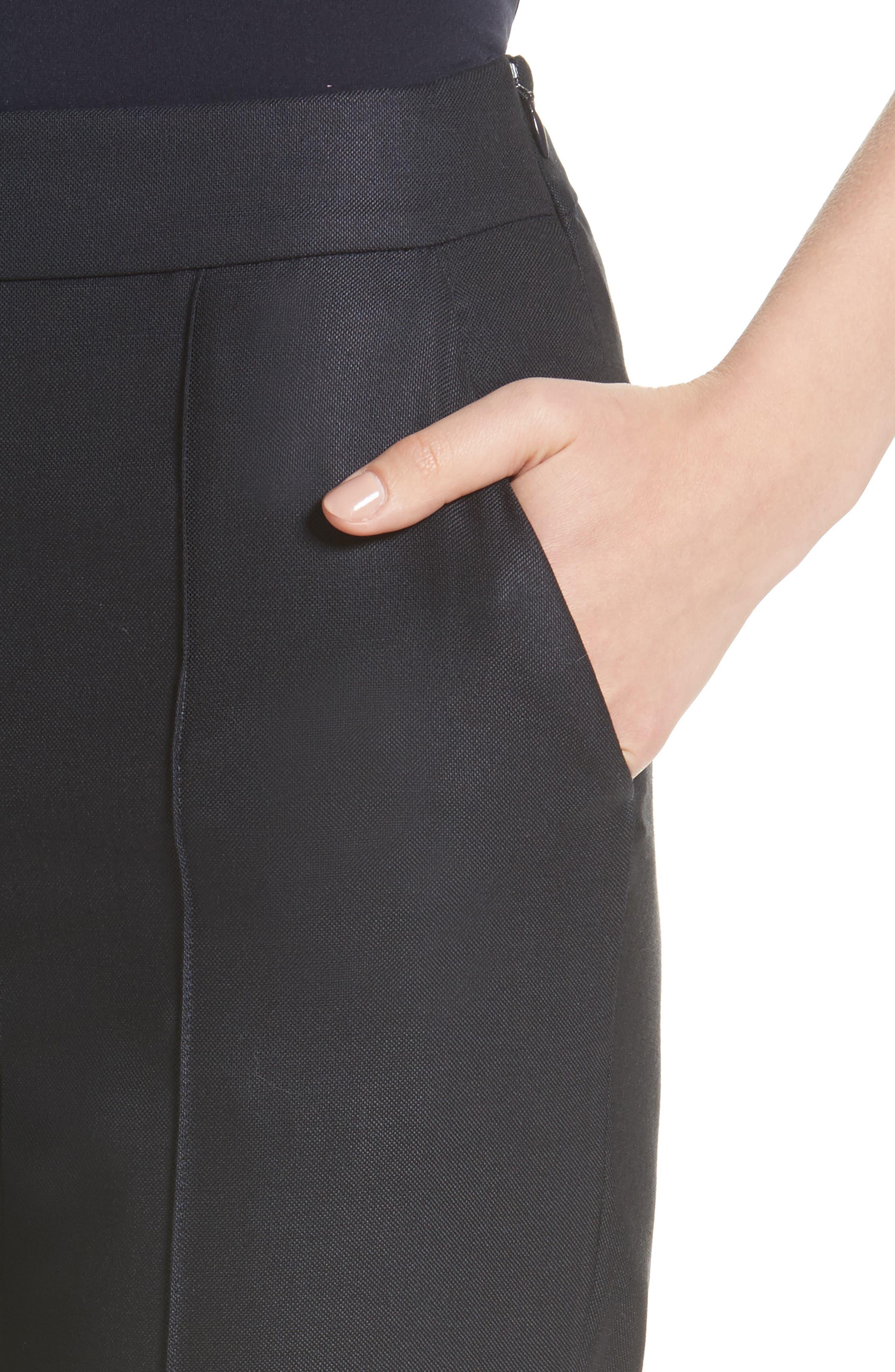Stretch Birdseye Skinny Pants,                             Alternate thumbnail 4, color,                             Navy