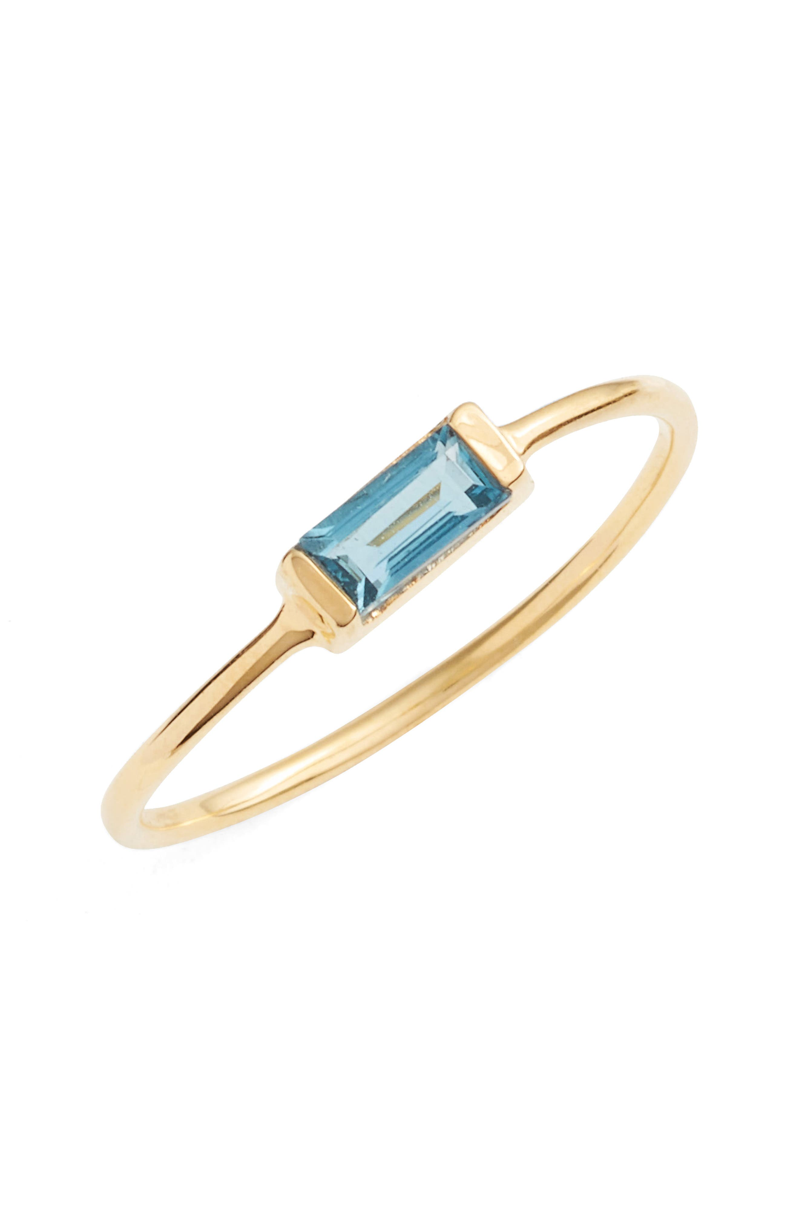 Stone Ring,                         Main,                         color, Blue Topaz/ Gold