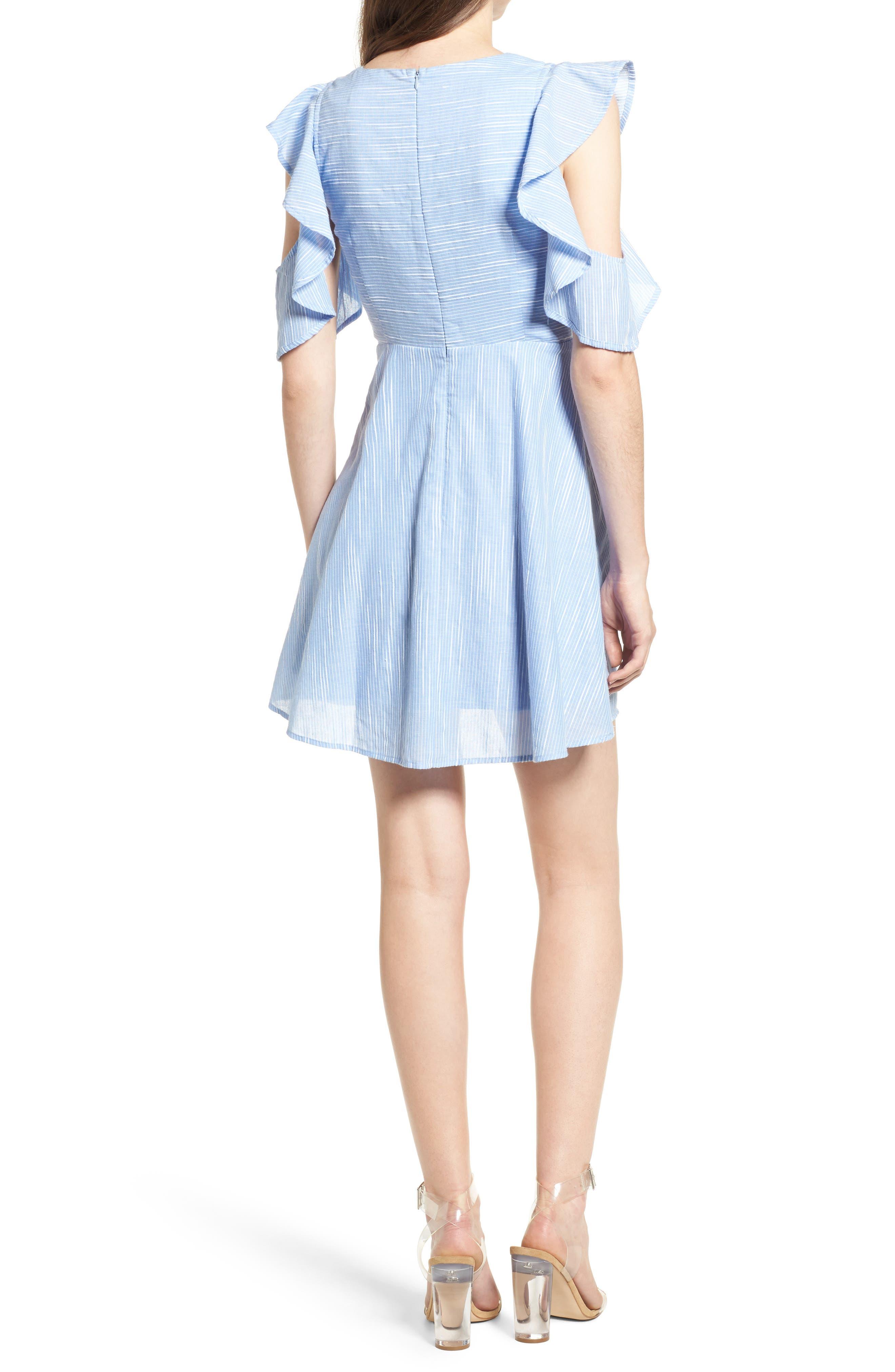 Alternate Image 2  - J.O.A. Cotton Cold Shoulder Skater Dress