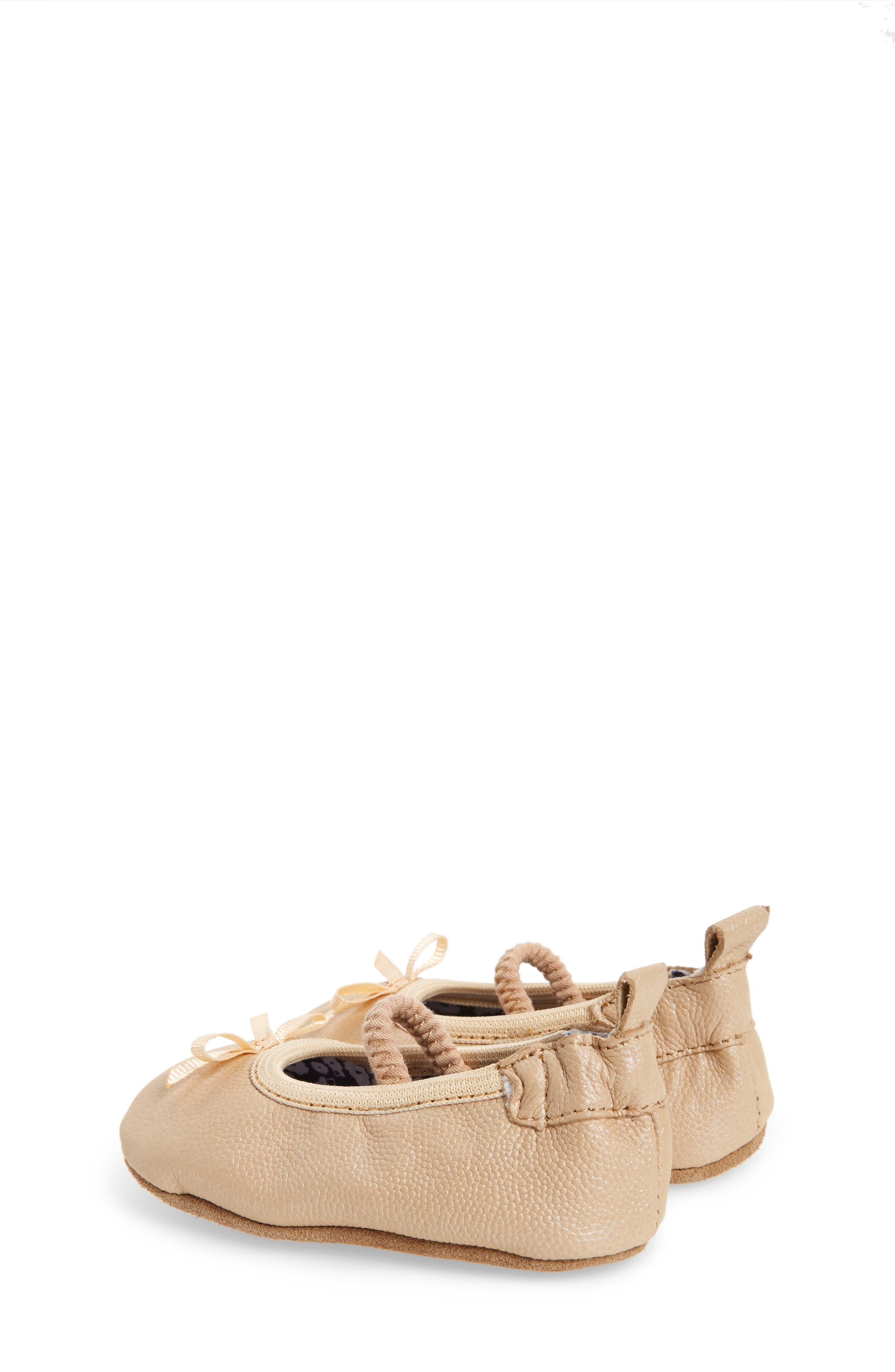Alternate Image 2  - Robeez® Rachel Ballet Flat (Baby & Walker)