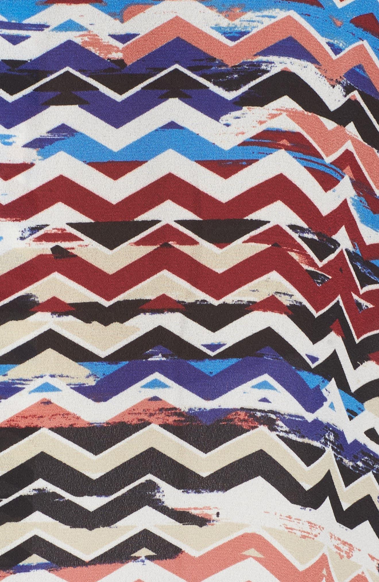 Herringbone Muses Pleat Front Top,                             Alternate thumbnail 5, color,                             Rich Black