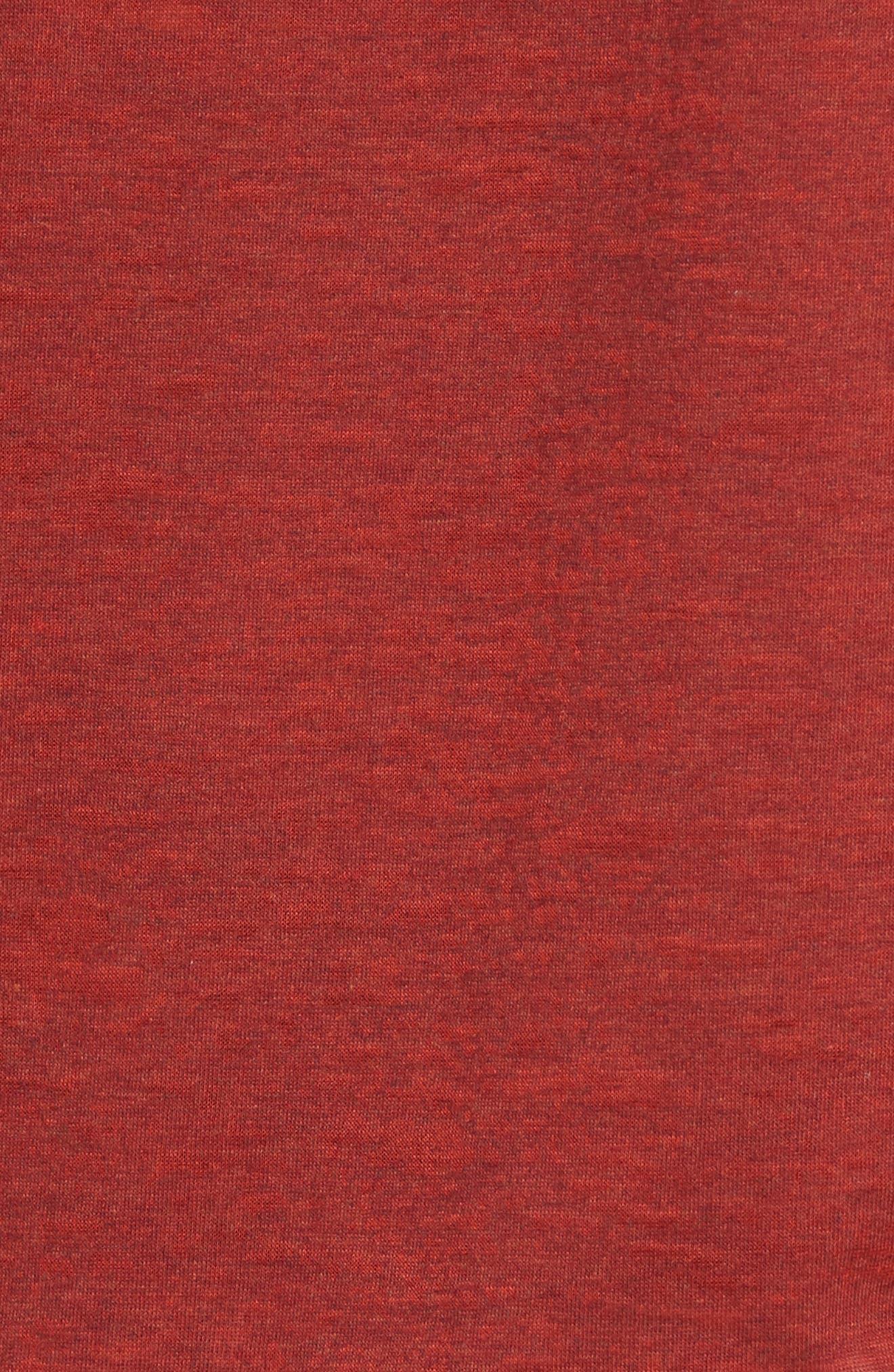 Raglan Sleeve T-Shirt,                             Alternate thumbnail 5, color,                             Tomato