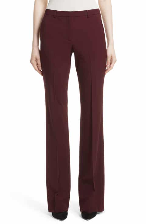 Theory Demitria 2 Flare Leg Stretch Wool Pants