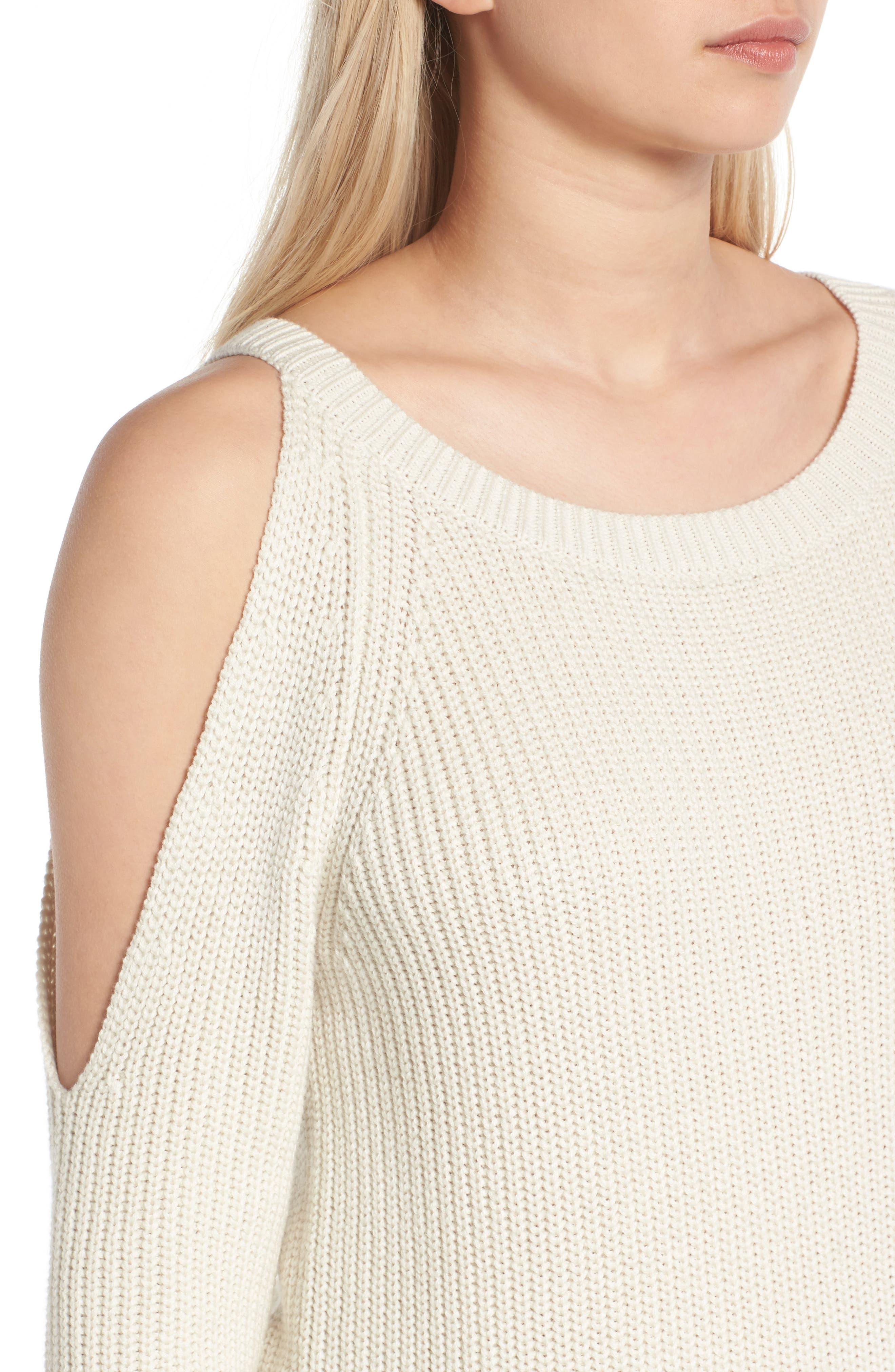 Alternate Image 4  - Treasure & Bond Asymmetrical Cold Shoulder Sweater