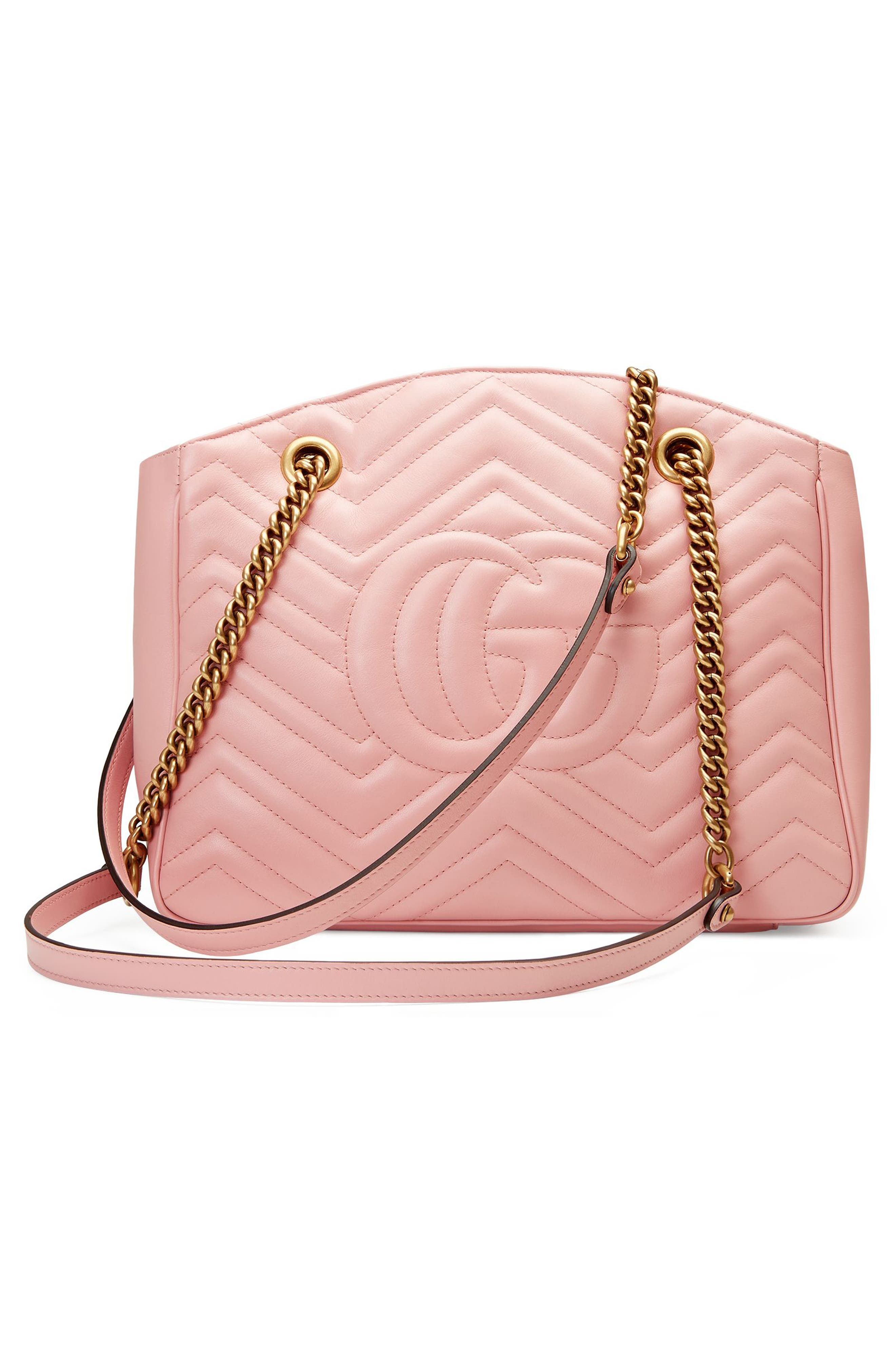 GG Marmont Matelassé Leather Shoulder Bag,                             Alternate thumbnail 2, color,                             Perfect Pink