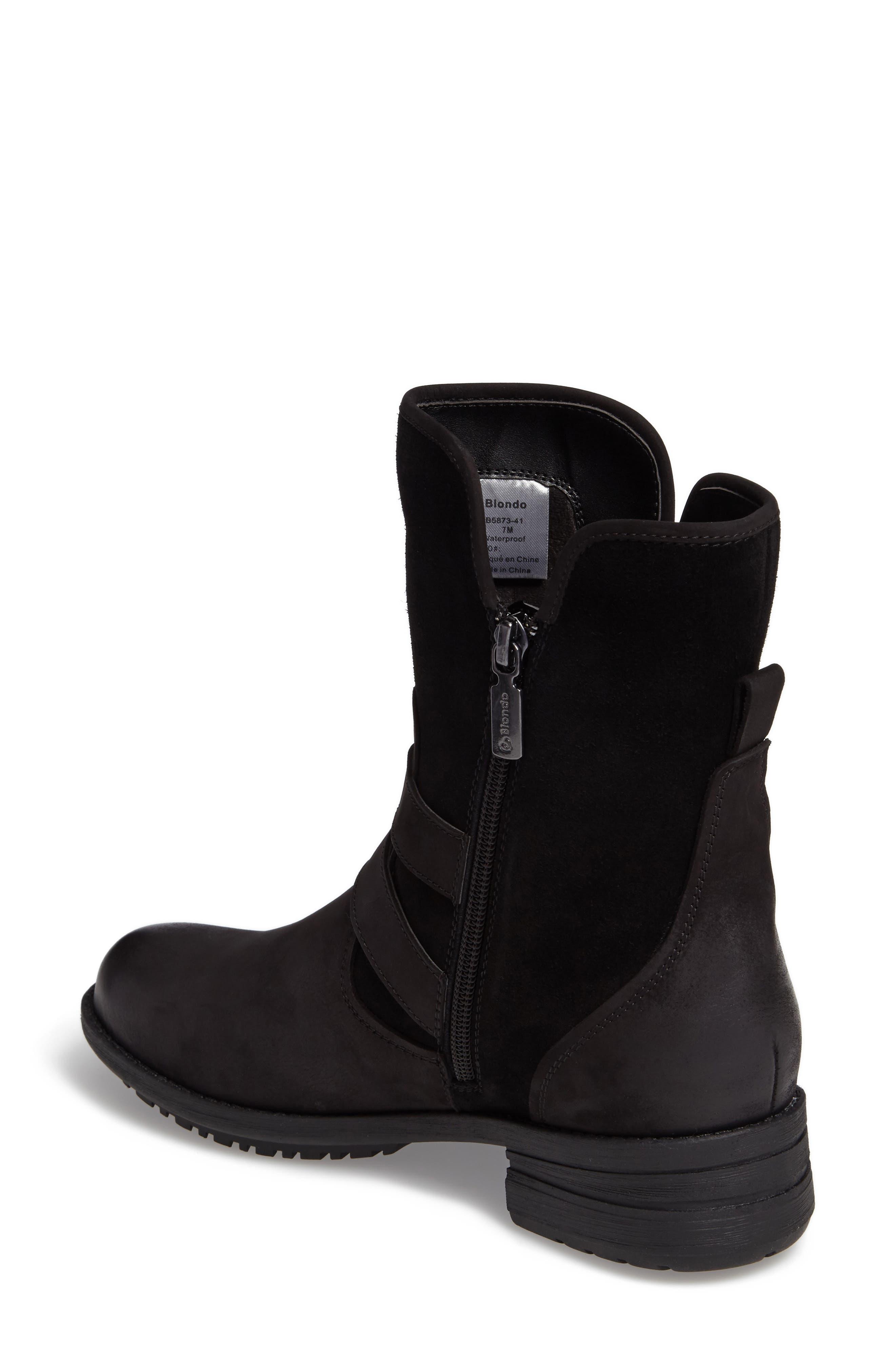 Tula Waterproof Boot,                             Alternate thumbnail 2, color,                             Black Nubuck Leather