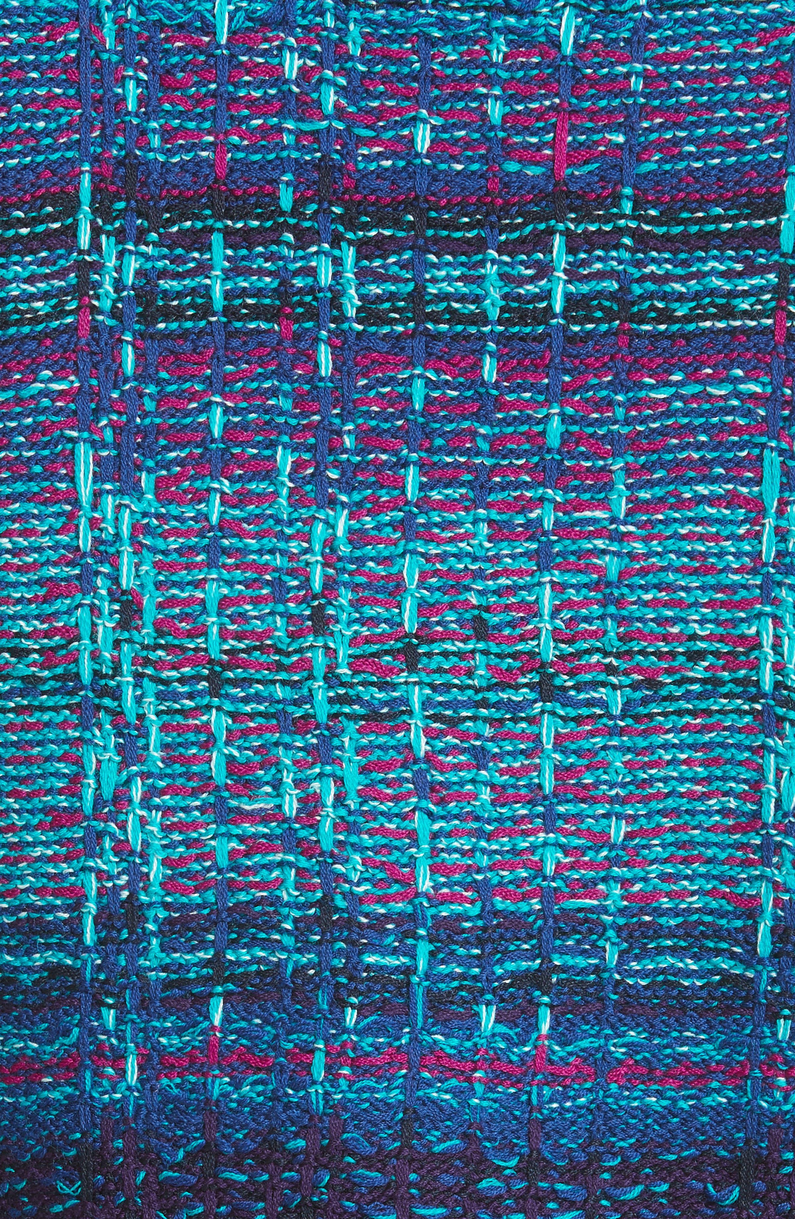 Ellah Knit Jacket,                             Alternate thumbnail 6, color,                             Navy Multi