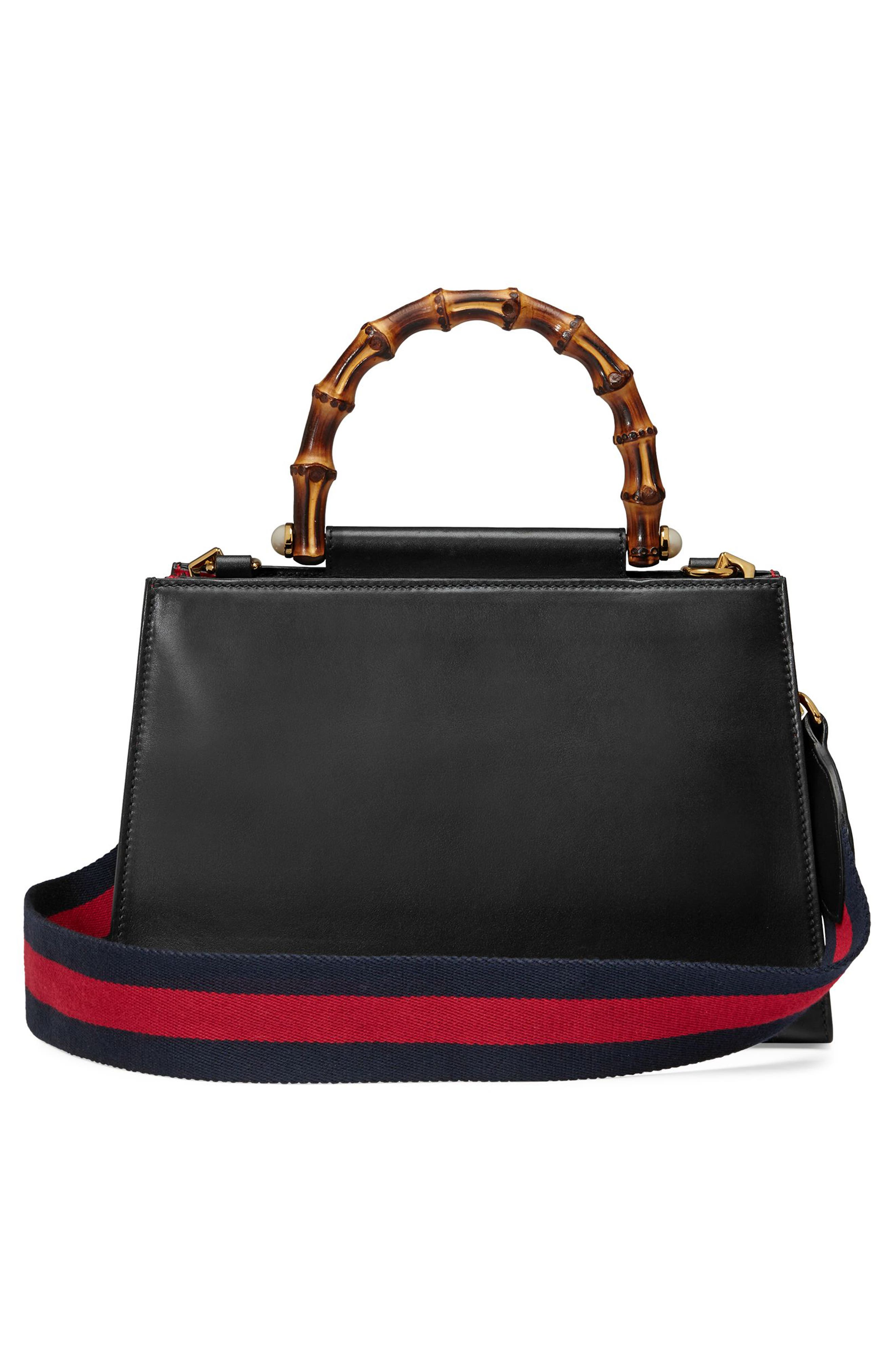 Alternate Image 2  - Gucci Medium Nymphea Bicolor Leather Top Handle Satchel