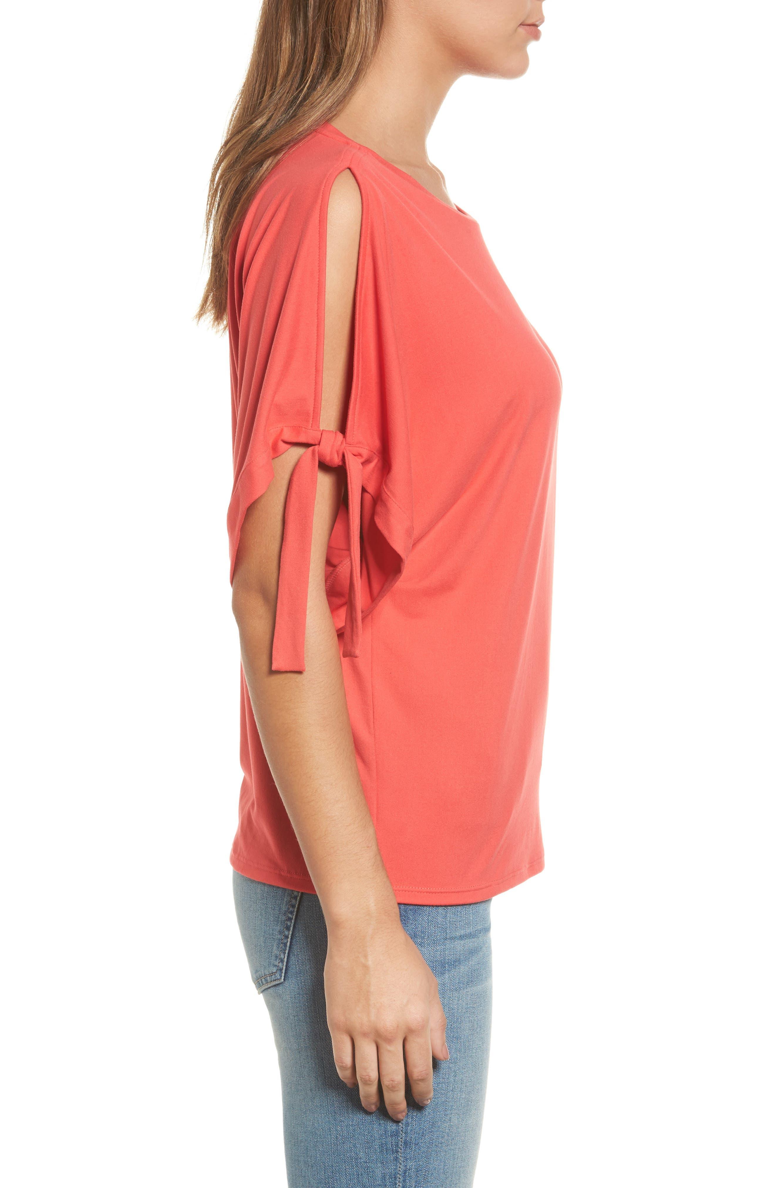 Alternate Image 3  - Halogen® Stretch Knit Top (Regular & Petite)