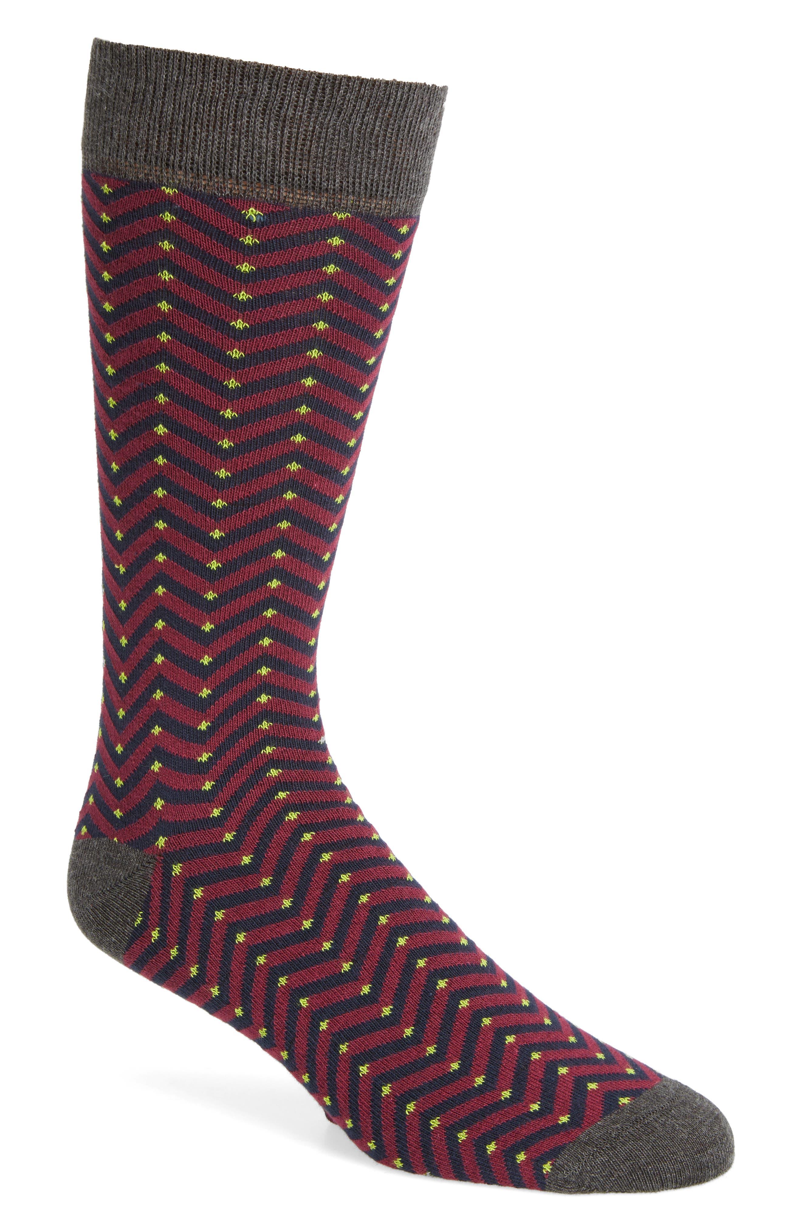 Alternate Image 1 Selected - Ted Baker London Chevron Stripe Socks