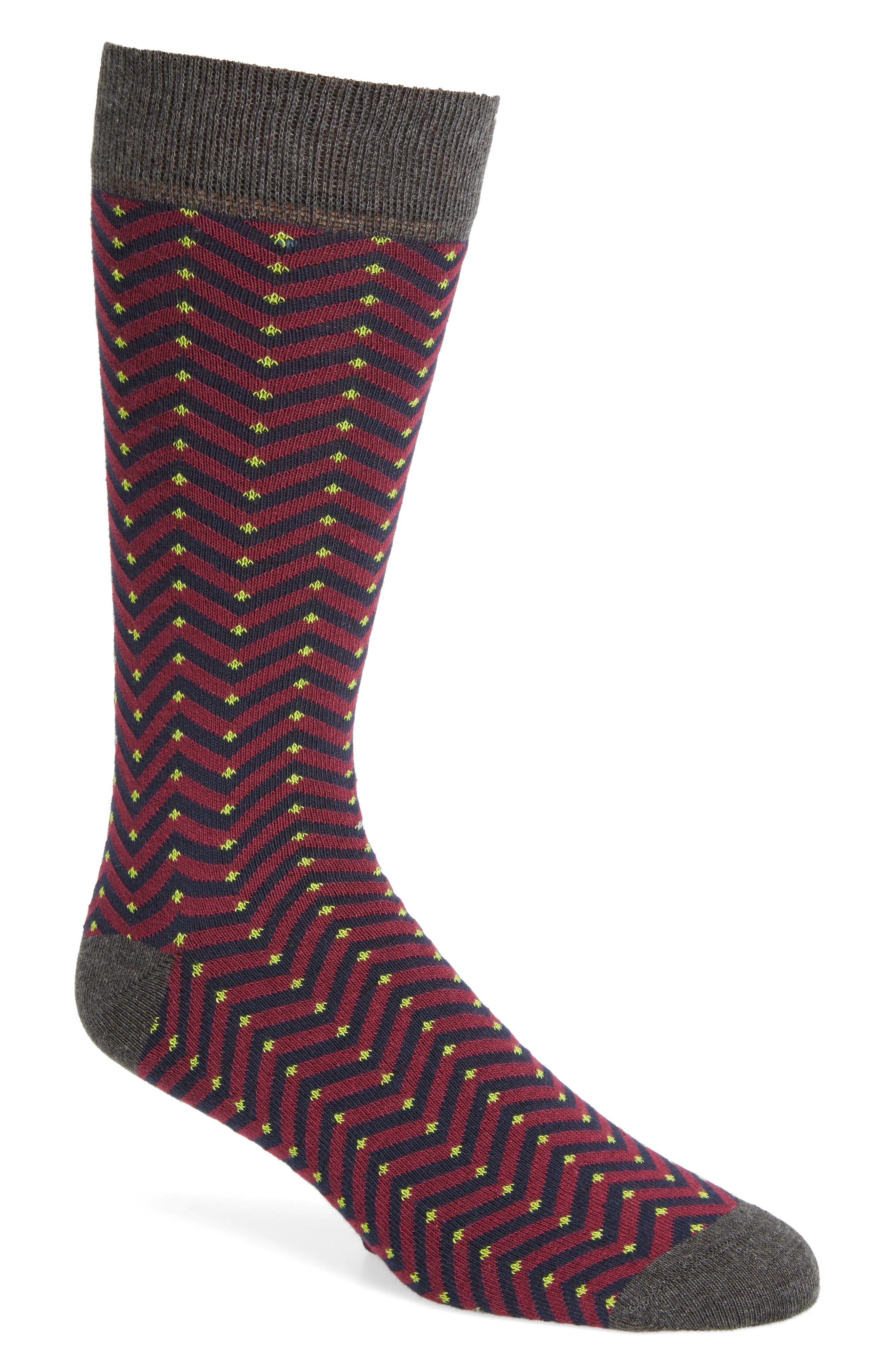 Chevron Stripe Socks,                         Main,                         color, Red