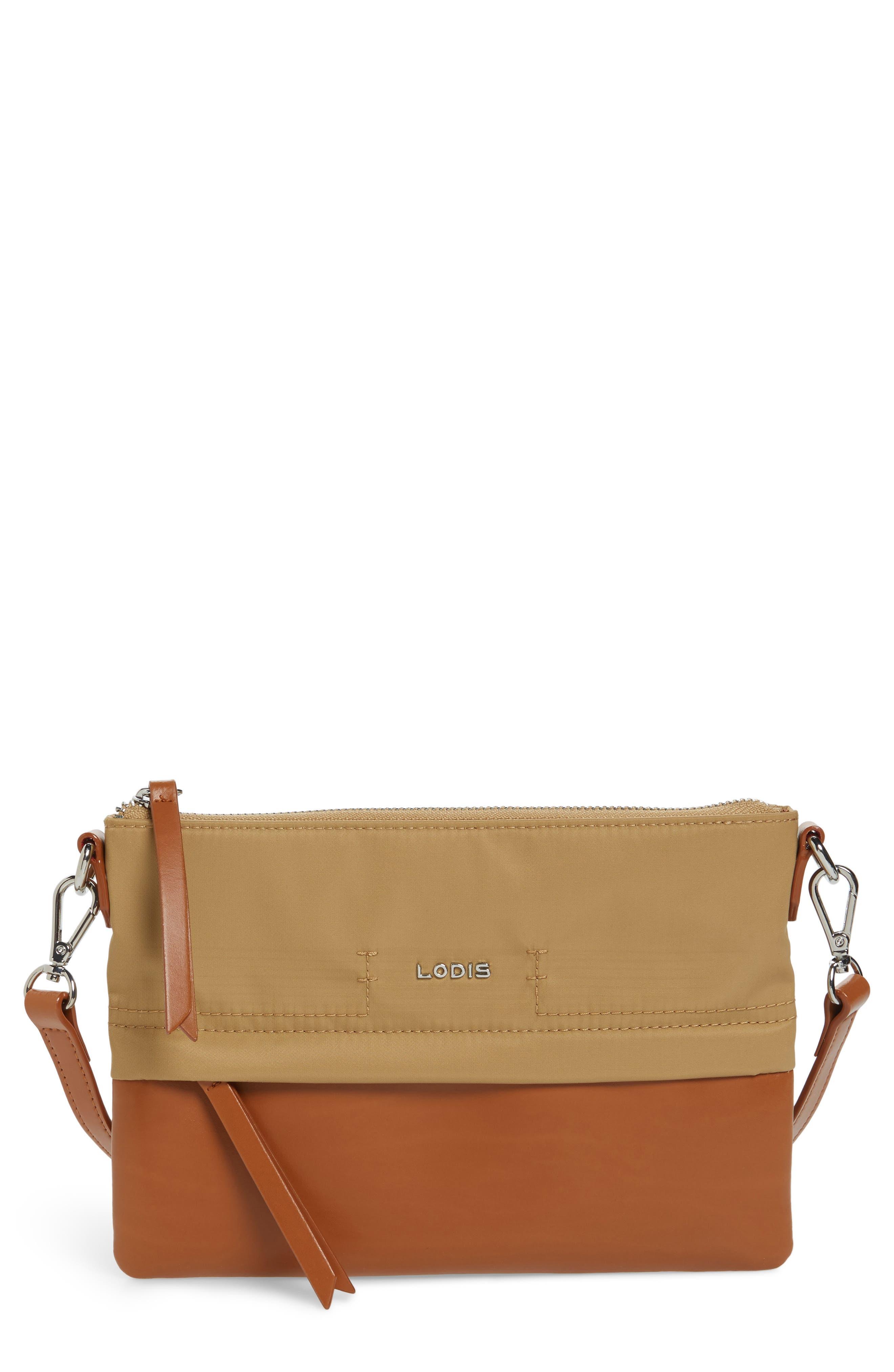 Alternate Image 1 Selected - LODIS Los Angeles Kate Under Lock & Key Kala Leather Convertible Crossbody Bag
