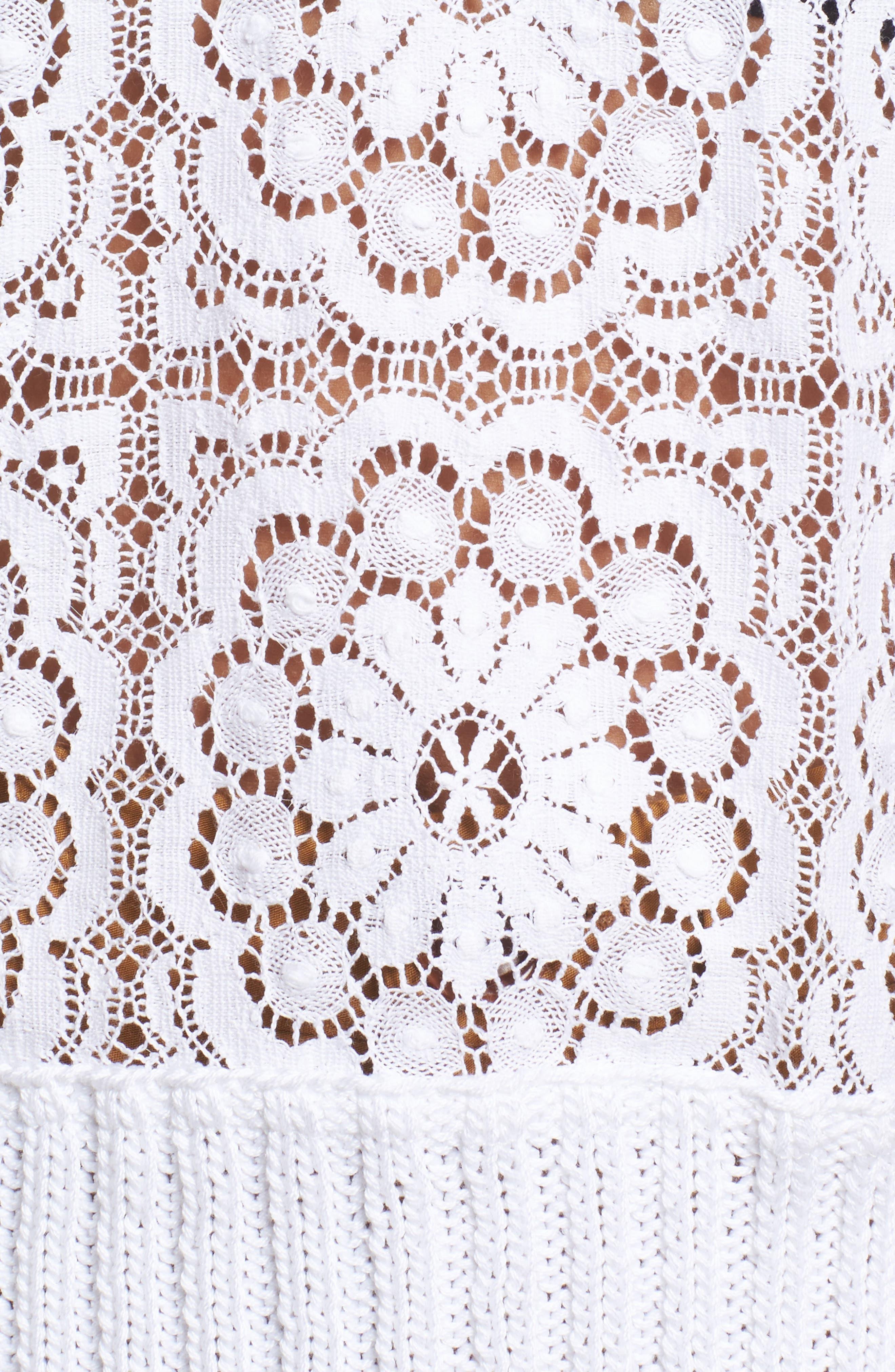 Alternate Image 5  - Sea Ruffle Lace Sweatshirt