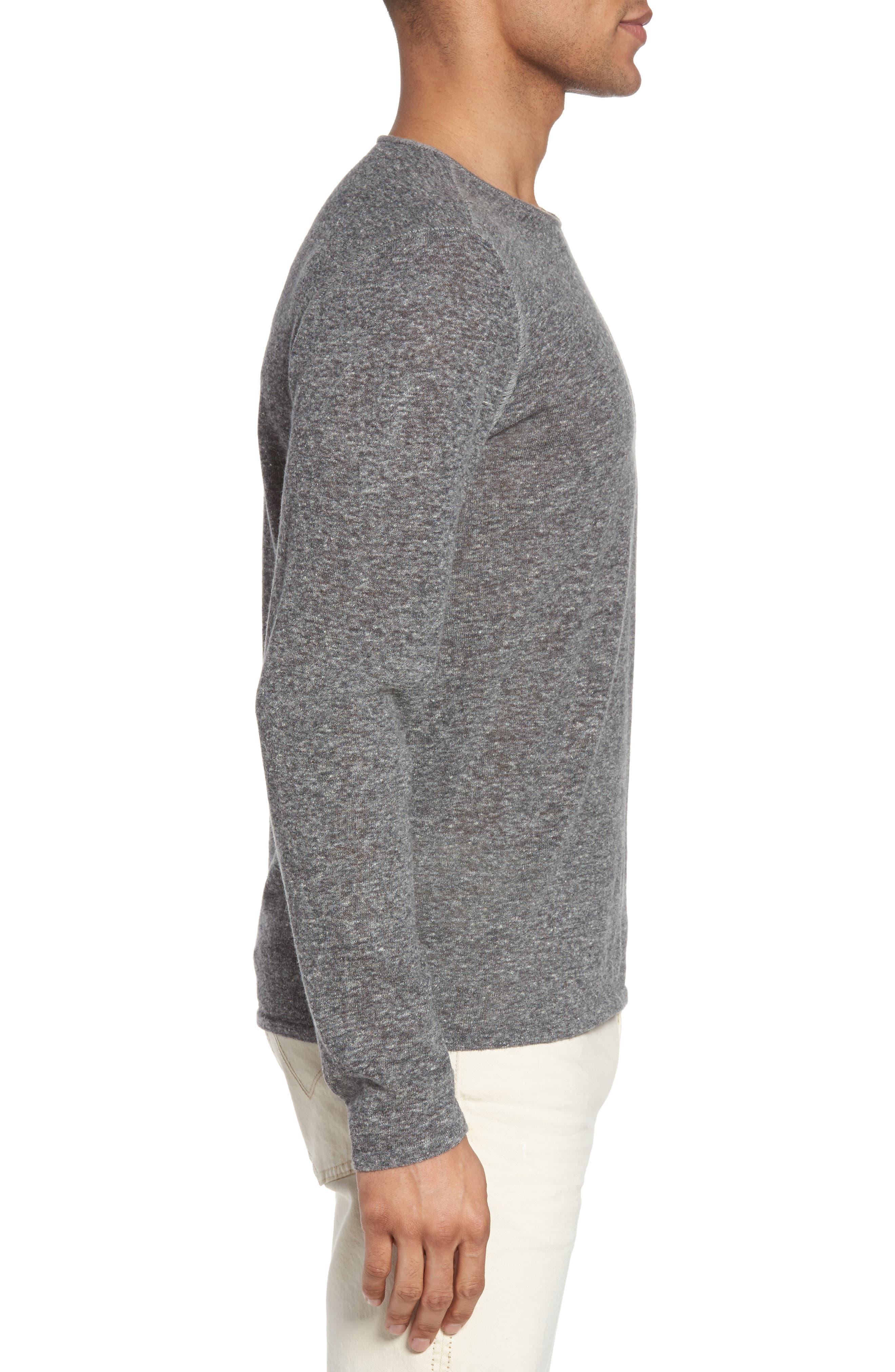 Crewneck Sweater,                             Alternate thumbnail 3, color,                             Medium Grey