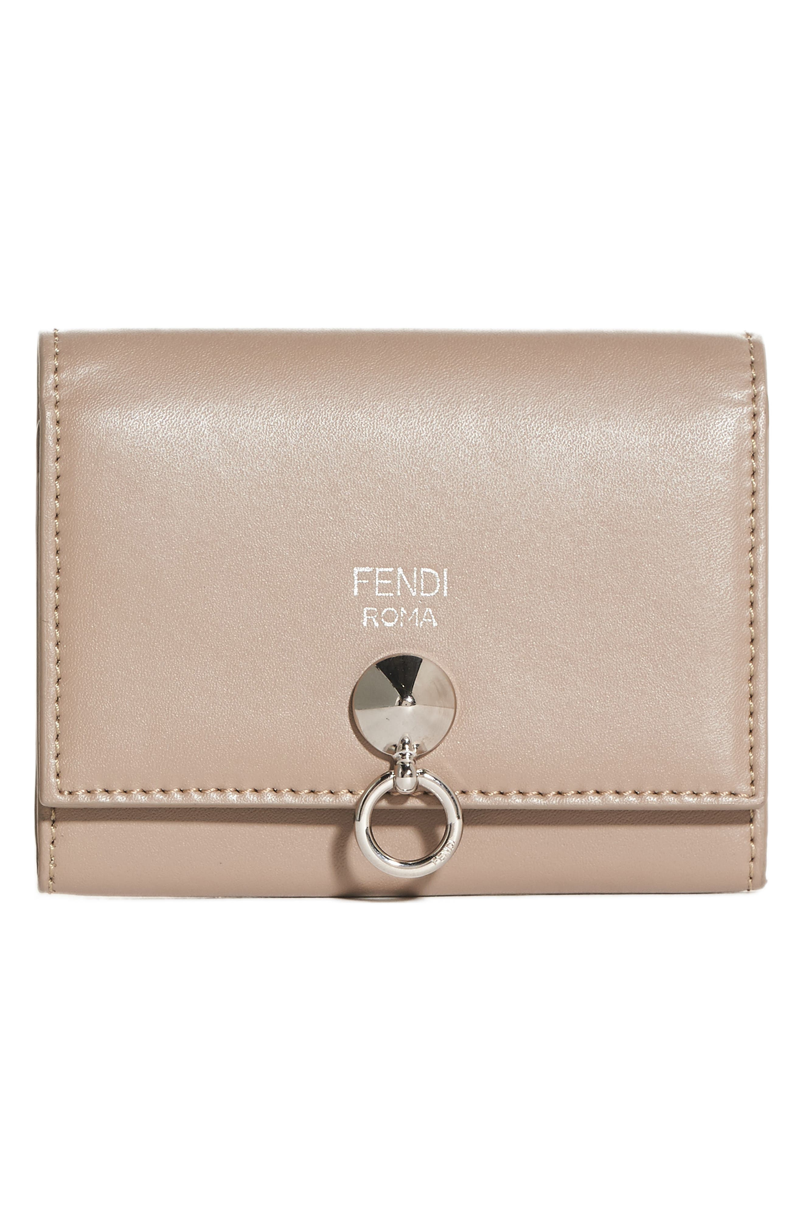Alternate Image 1 Selected - Fendi Leather Card Case