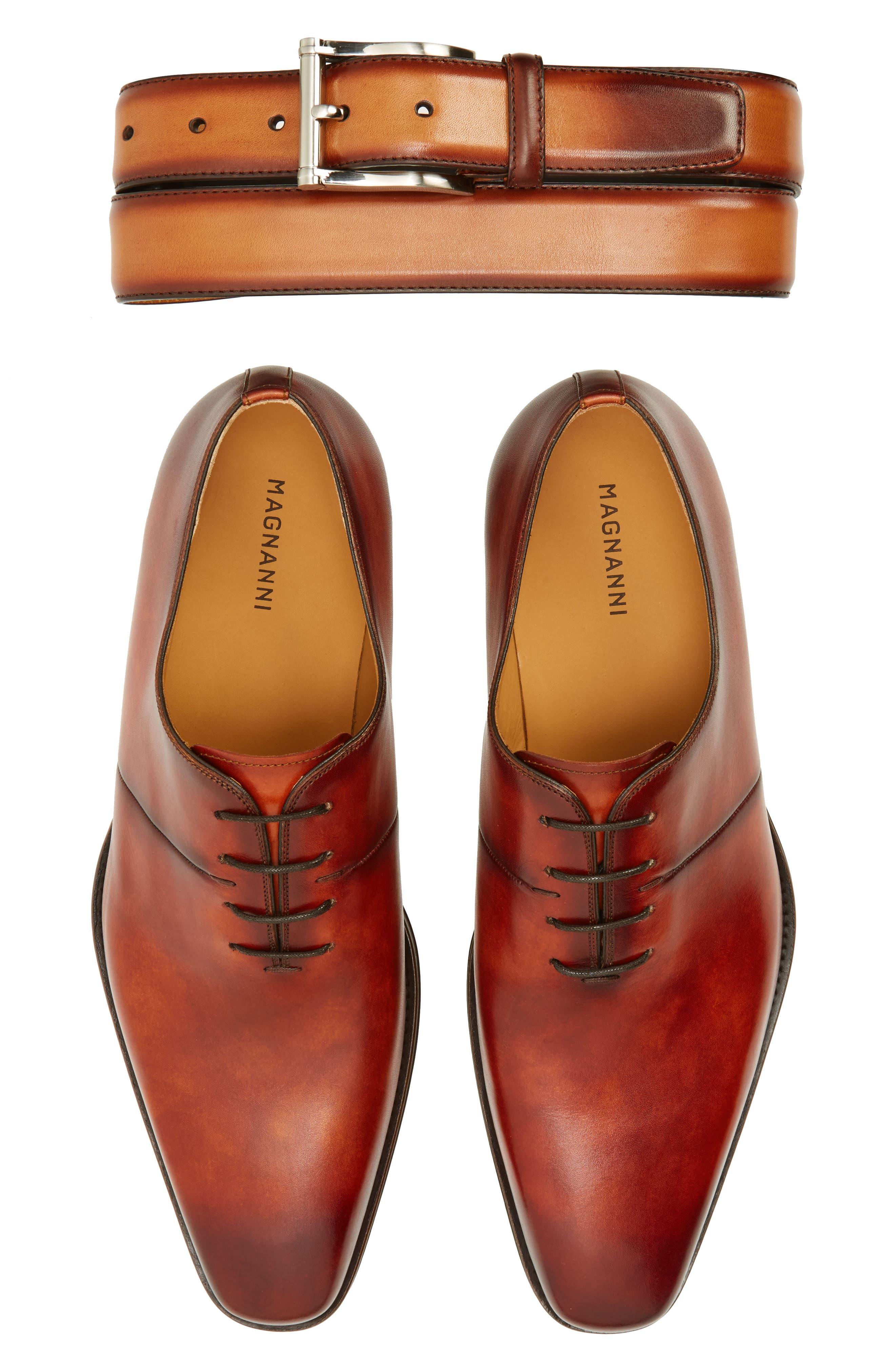 Cornado Plain Toe Oxford,                             Alternate thumbnail 7, color,                             Cognac Leather