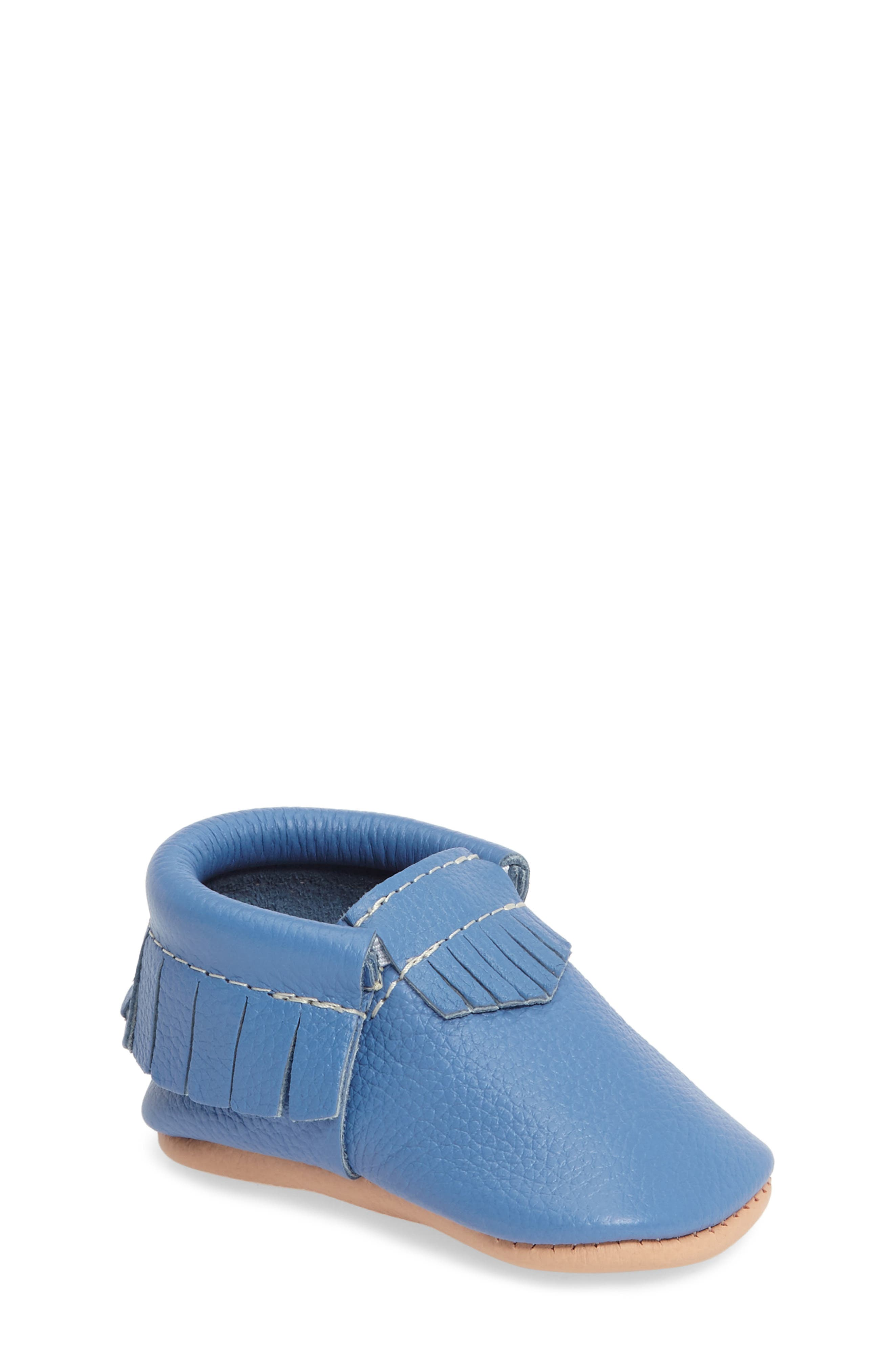Moccasin,                         Main,                         color, Blue Leather