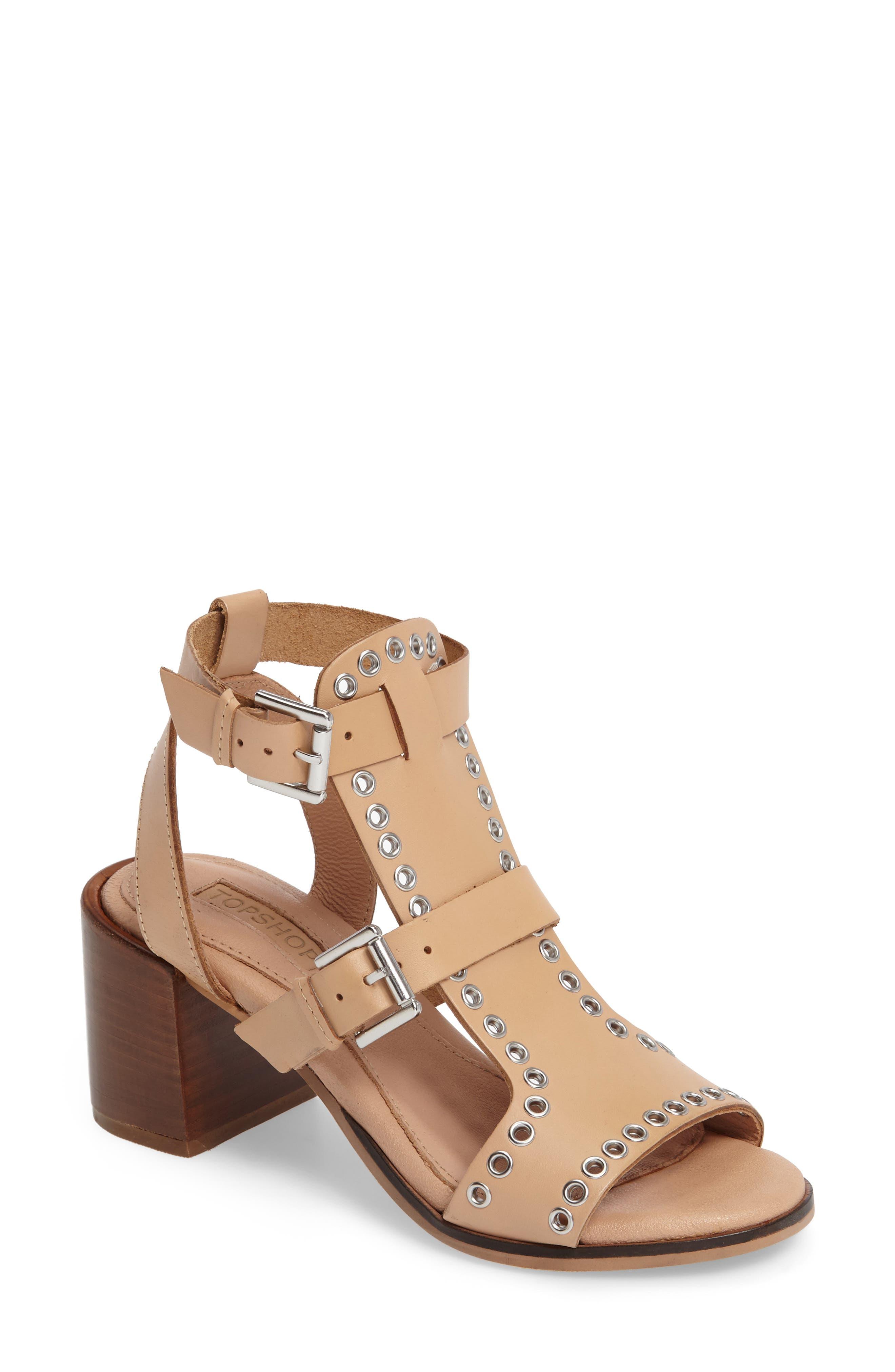 Alternate Image 1 Selected - Topshop Vienna Grommet Sandal (Women)