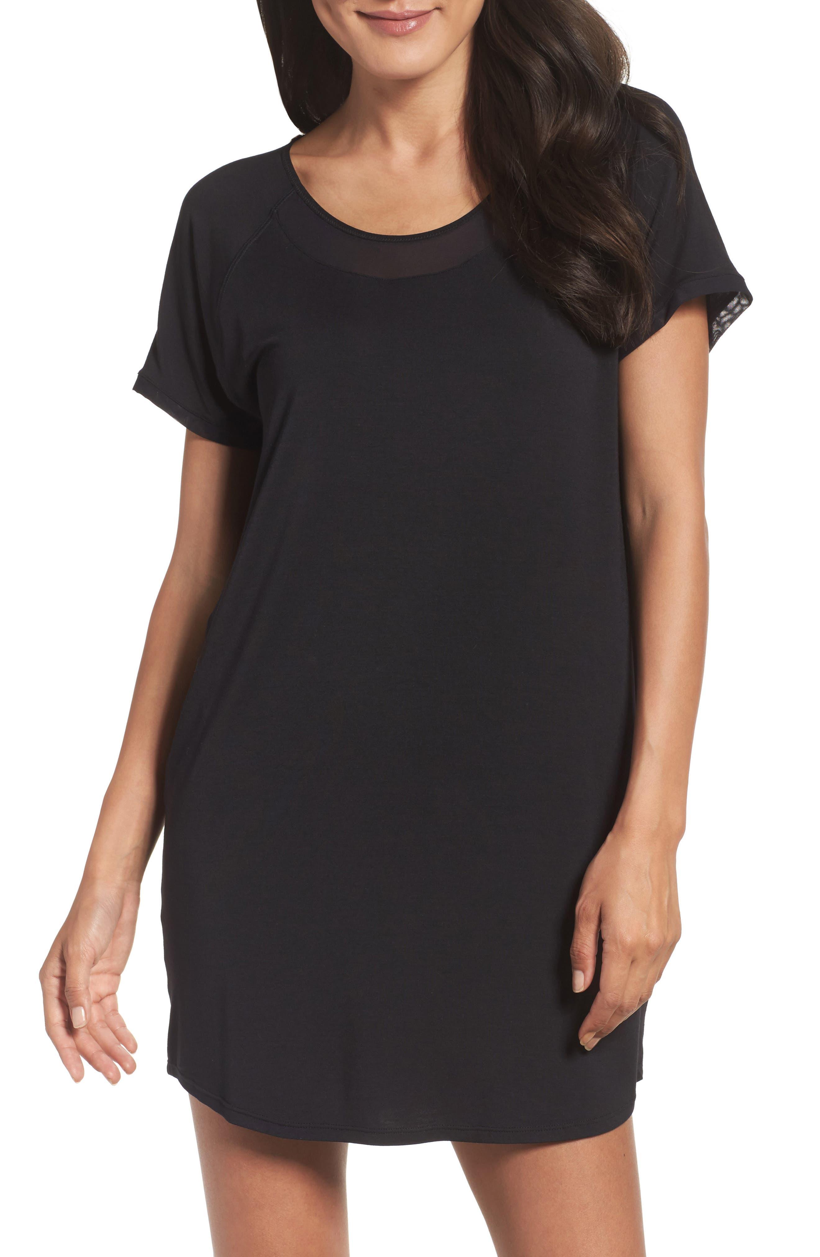 Sleep Shirt,                         Main,                         color, Black