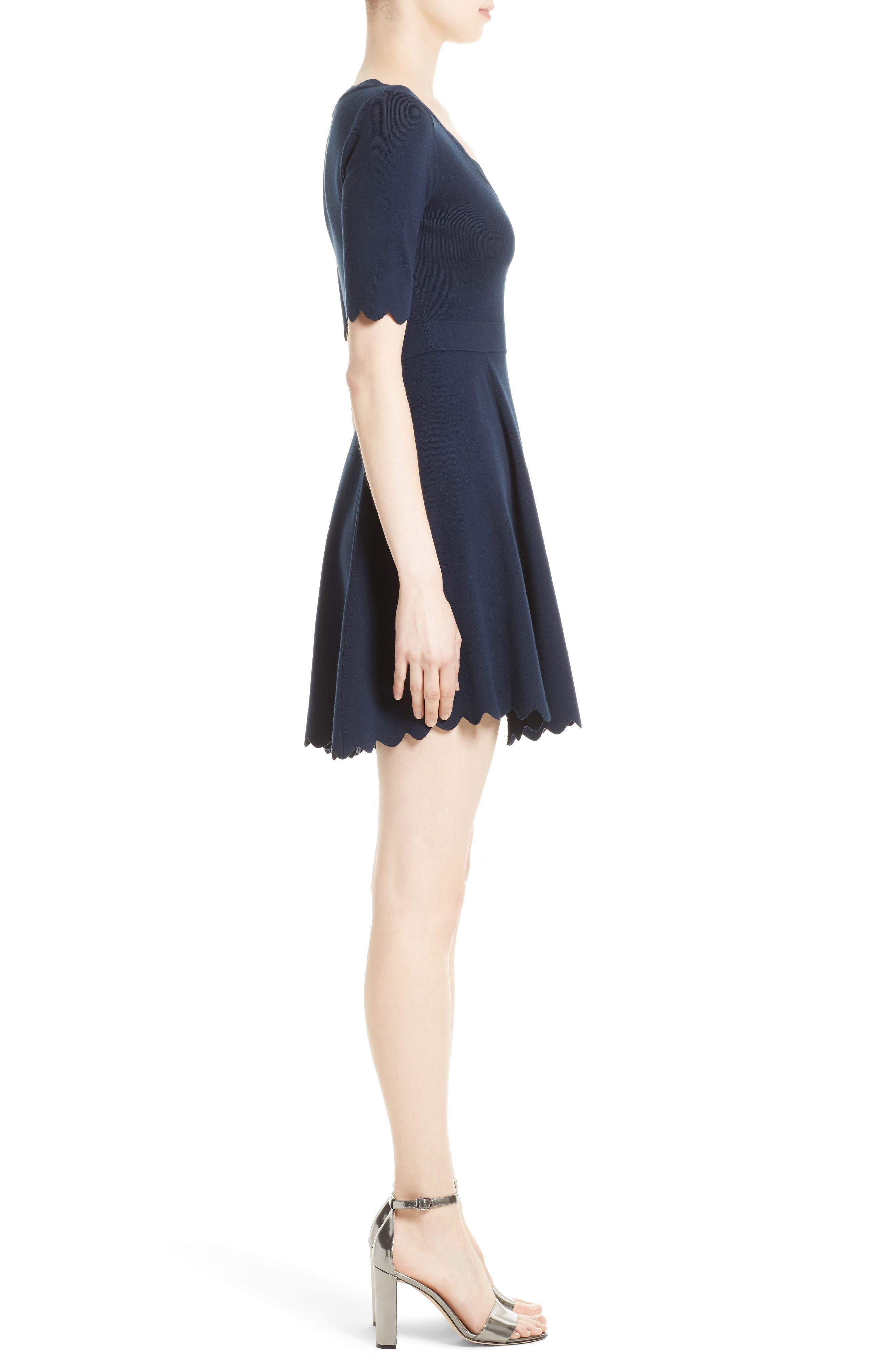 Alternate Image 3  - Milly Fit & Flare Knit Dress