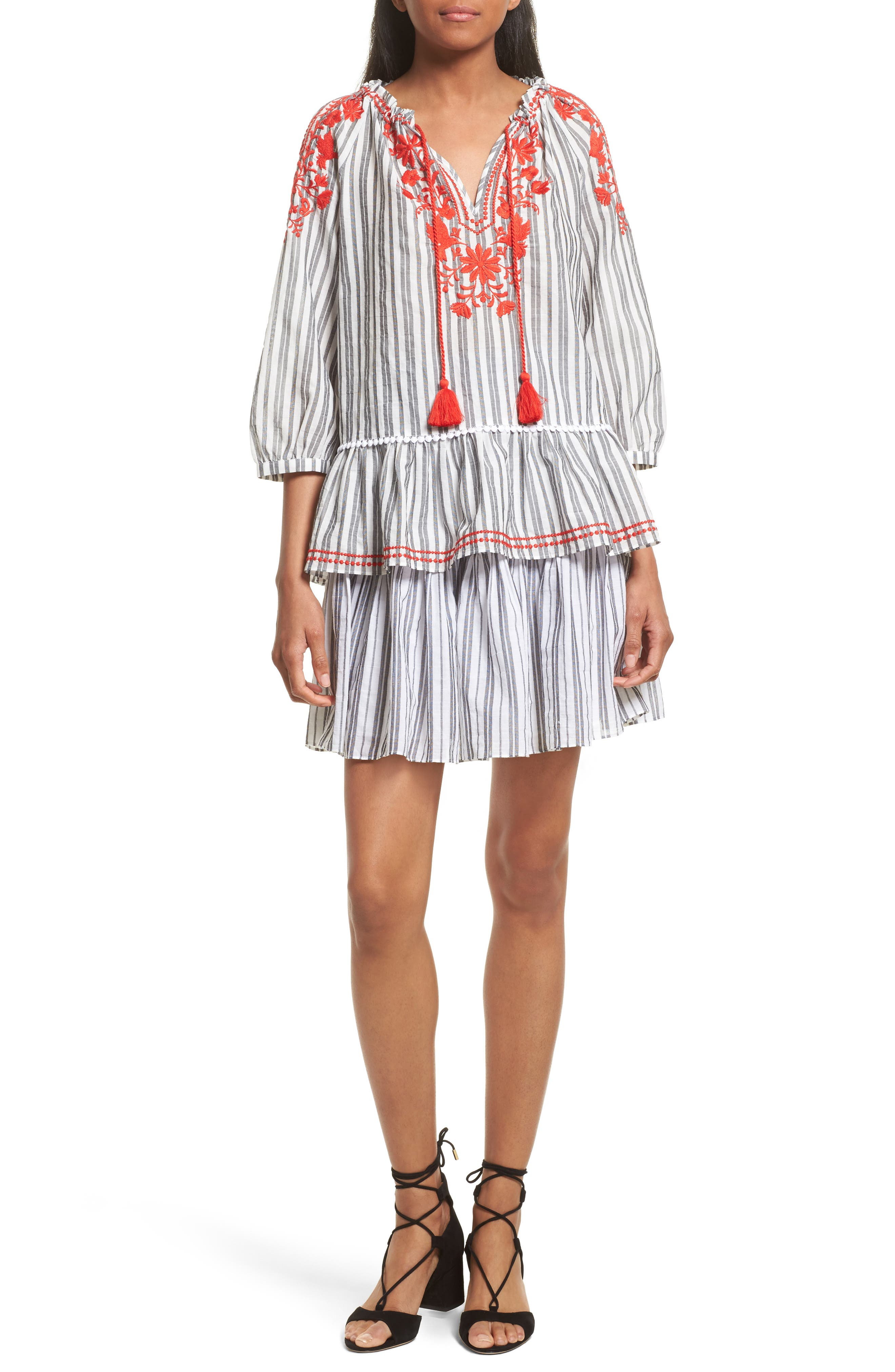 Alternate Image 2  - kate spade new york embroidered peasant top