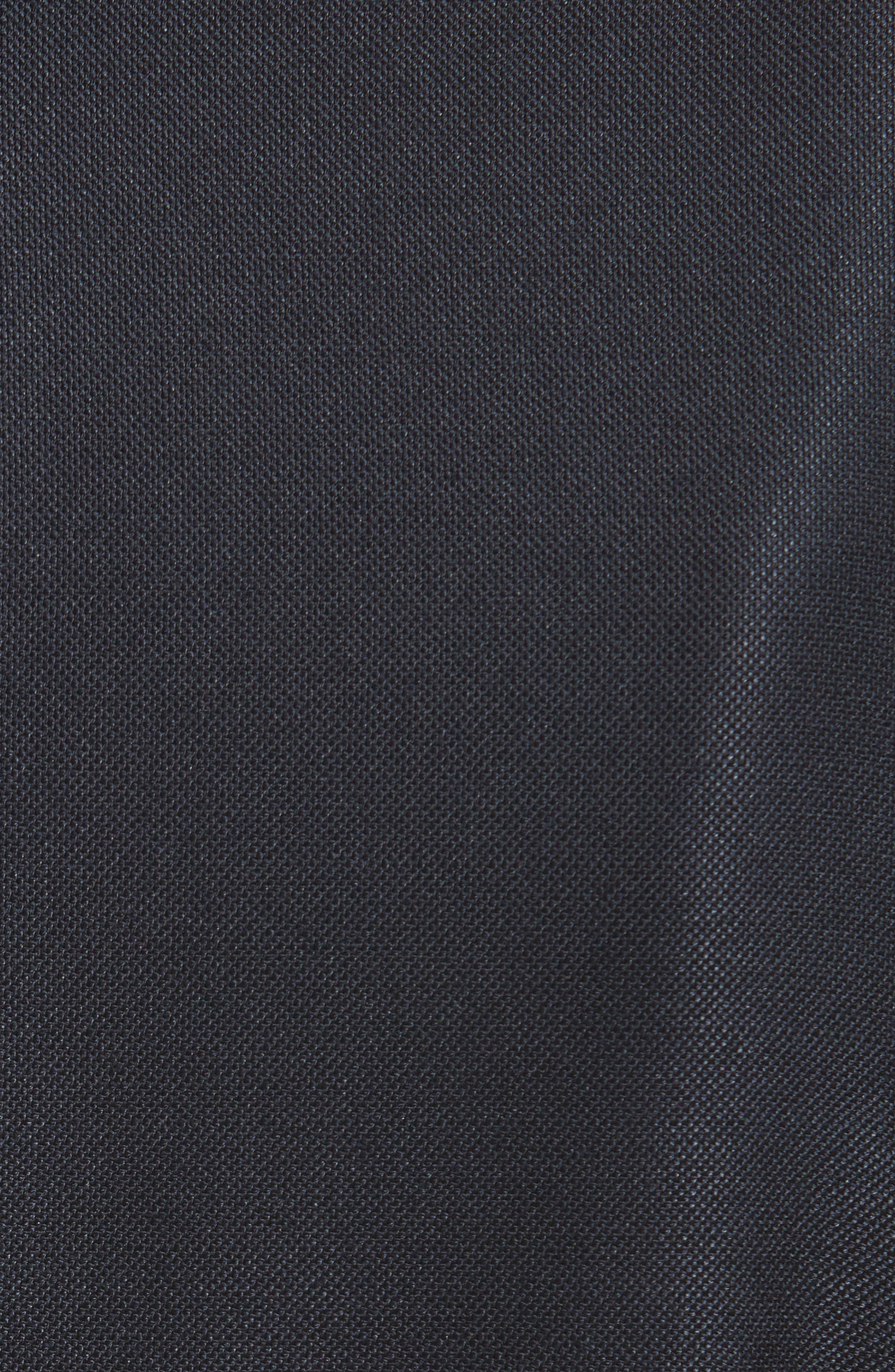 Stretch Birdseye Sheath Dress,                             Alternate thumbnail 6, color,                             Navy/ Caviar