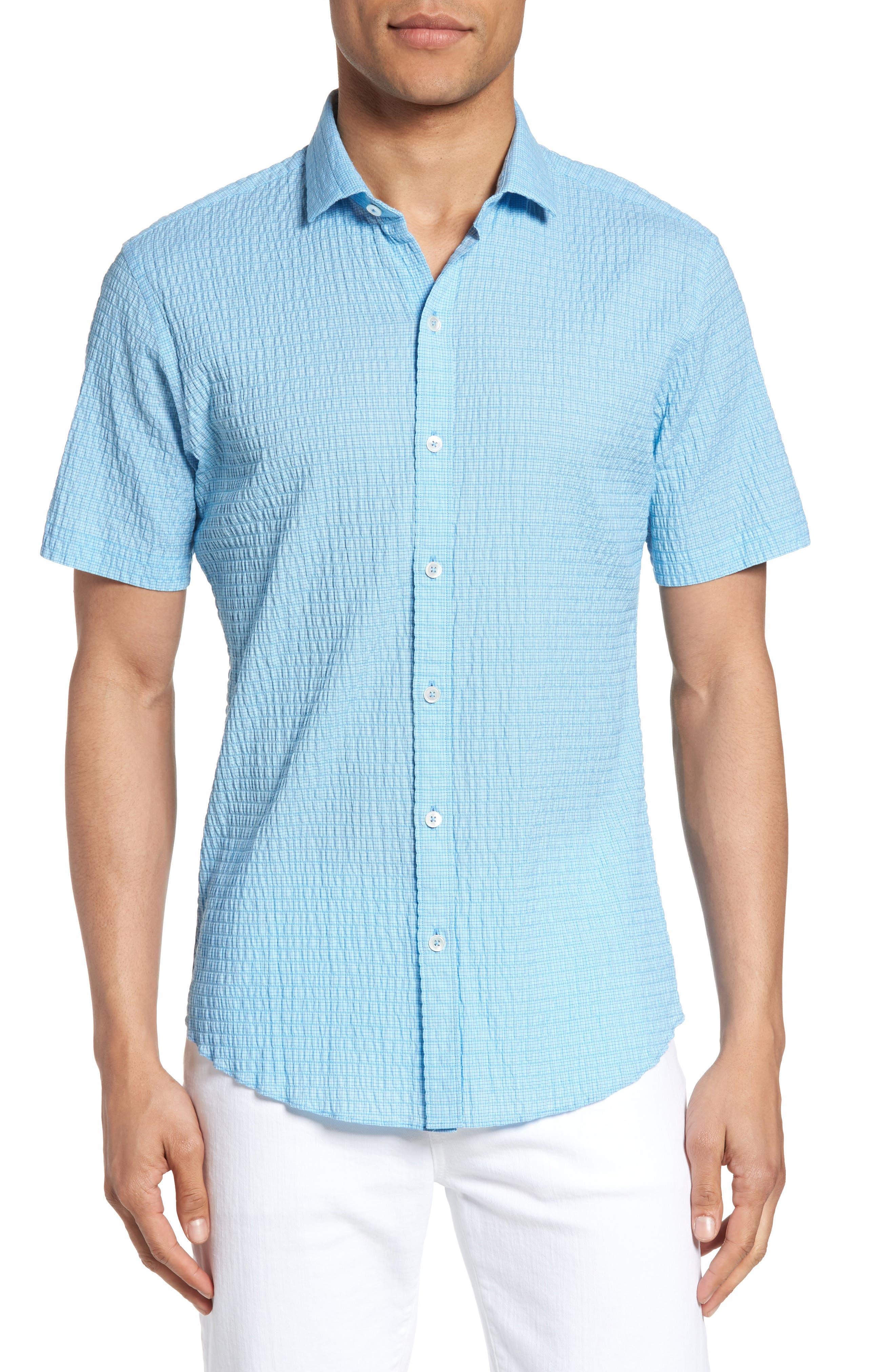 Morales Sport Shirt,                         Main,                         color, Light Blue