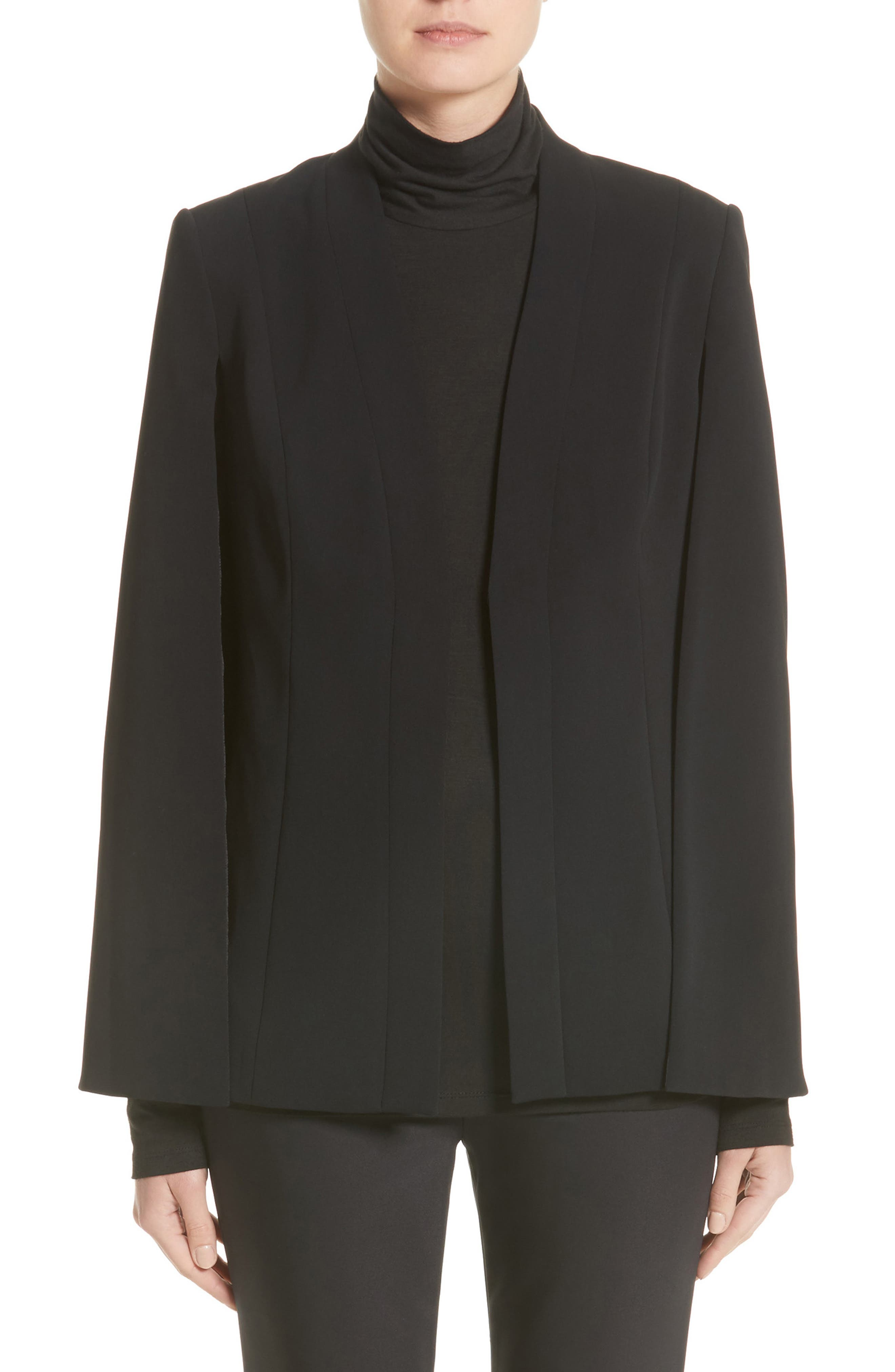 ST. JOHN COLLECTION Classic Cady Cape Jacket