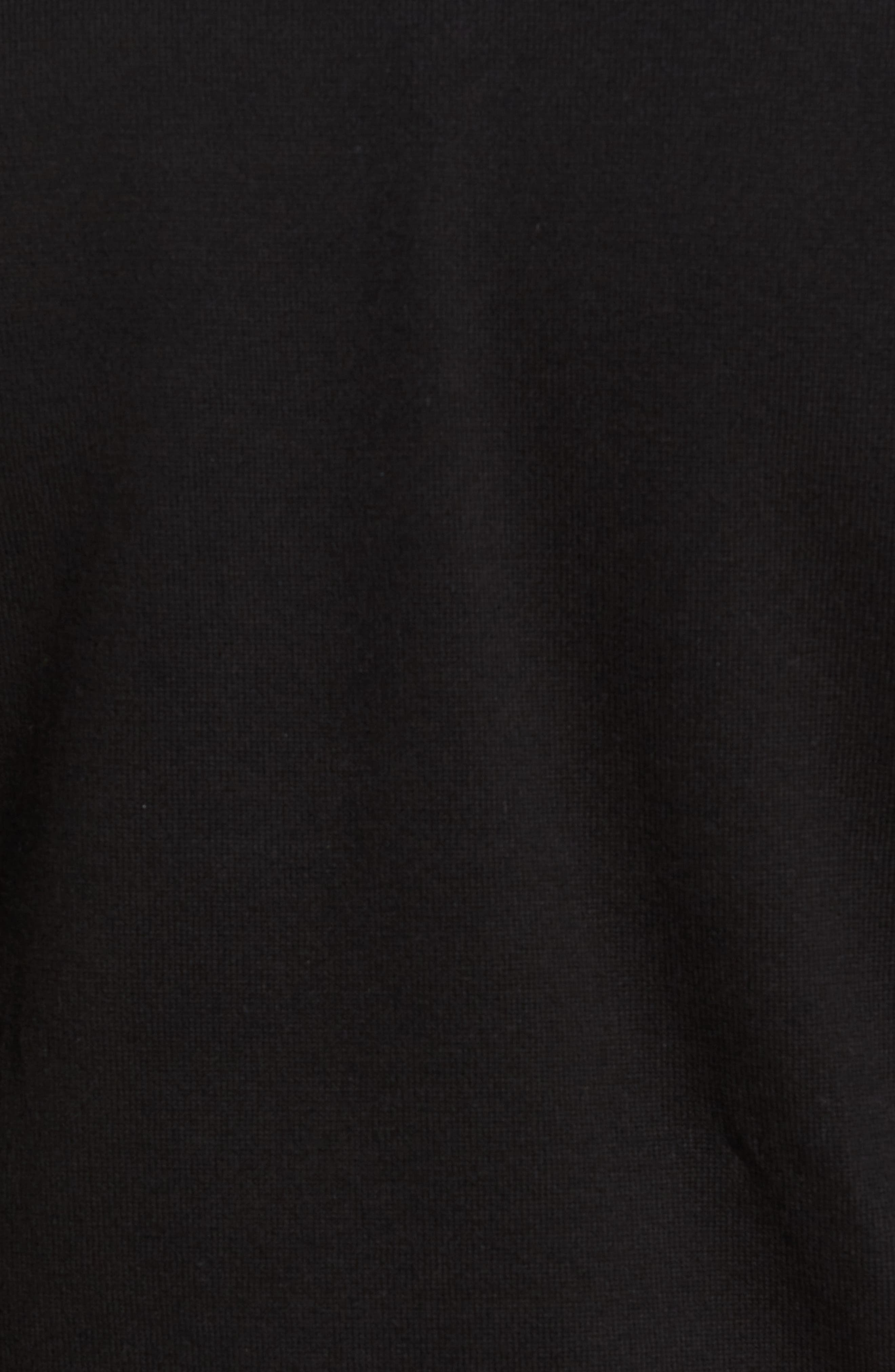 Lakemont V-Neck Sweater,                             Alternate thumbnail 5, color,                             Black