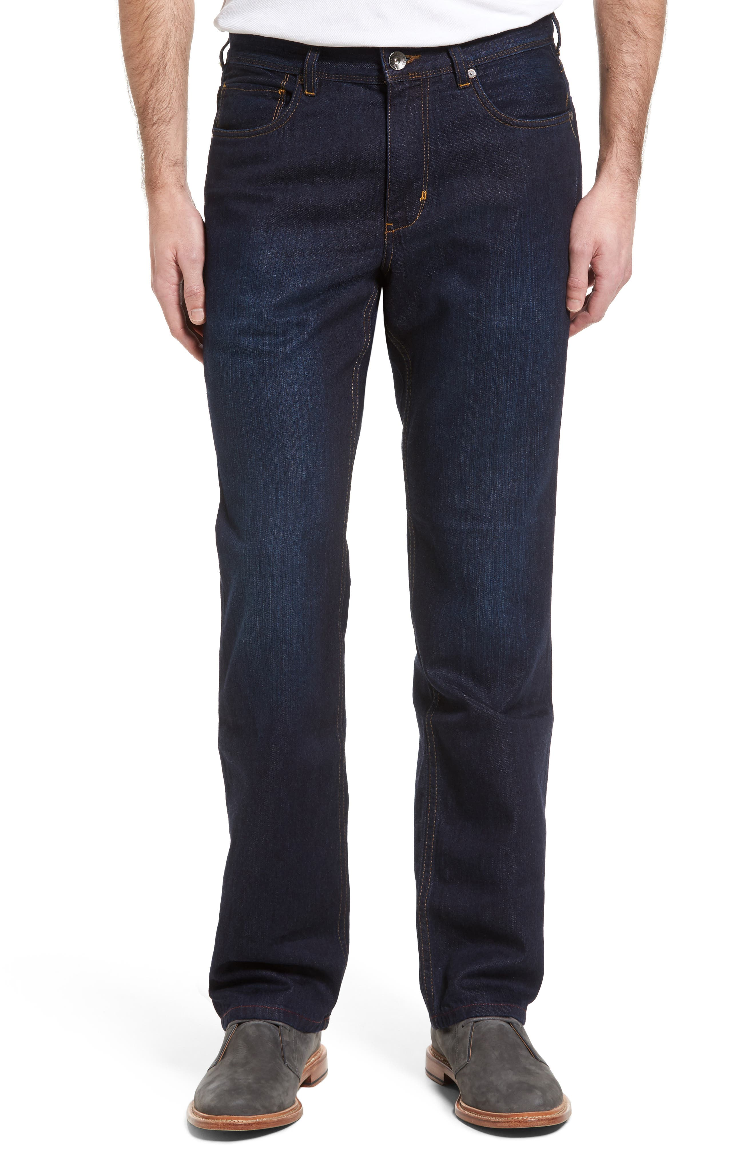 Tommy Bahama 'Cayman' Straight Leg Jeans (Beach Wash) (Big)